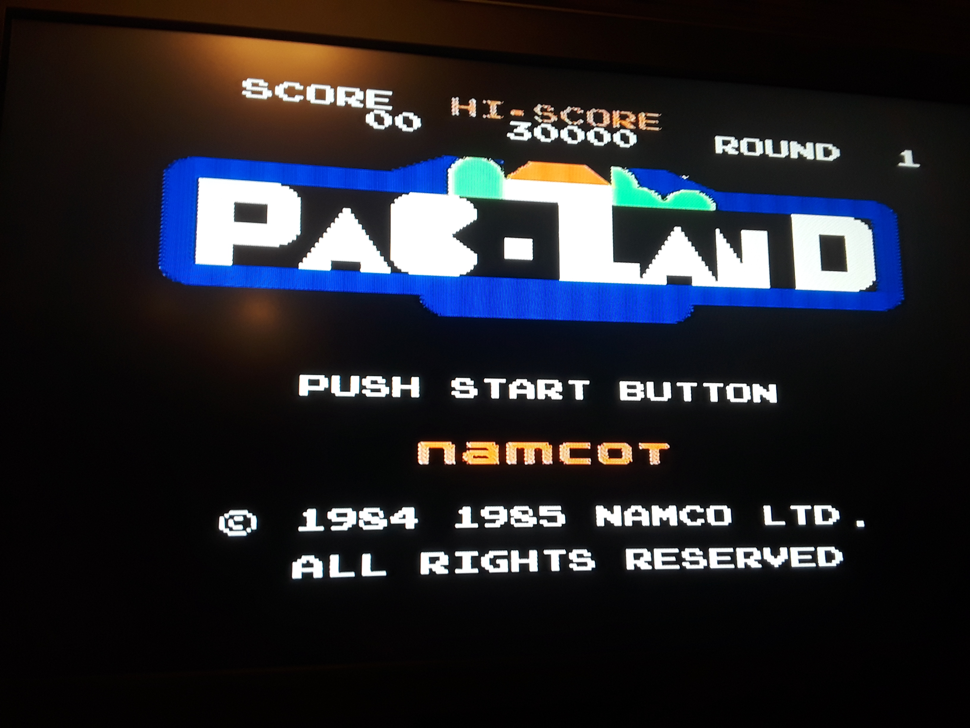 Pac-Land 7,480 points