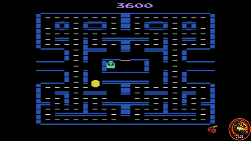 omargeddon: Pac-Man 4K (Atari 2600 Emulated Expert/A Mode) 3,600 points on 2020-05-31 01:30:43