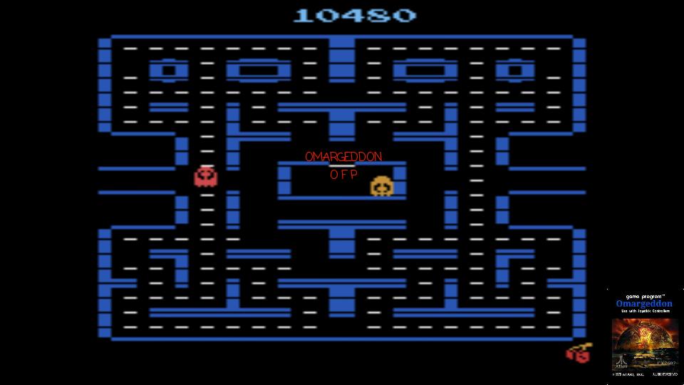 omargeddon: Pac-Man 4K (Atari 2600 Emulated Novice/B Mode) 10,480 points on 2017-01-16 23:51:38