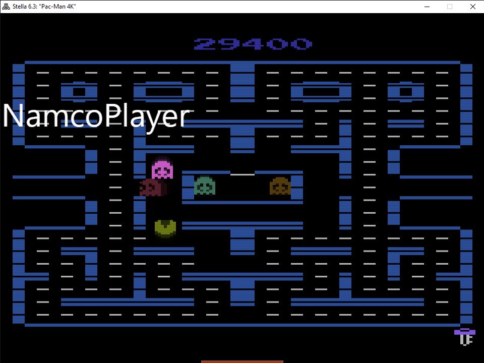 NamcoPlayer: Pac-Man 4K: Key Start (Atari 2600 Emulated Expert/A Mode) 29,400 points on 2020-11-15 10:04:18