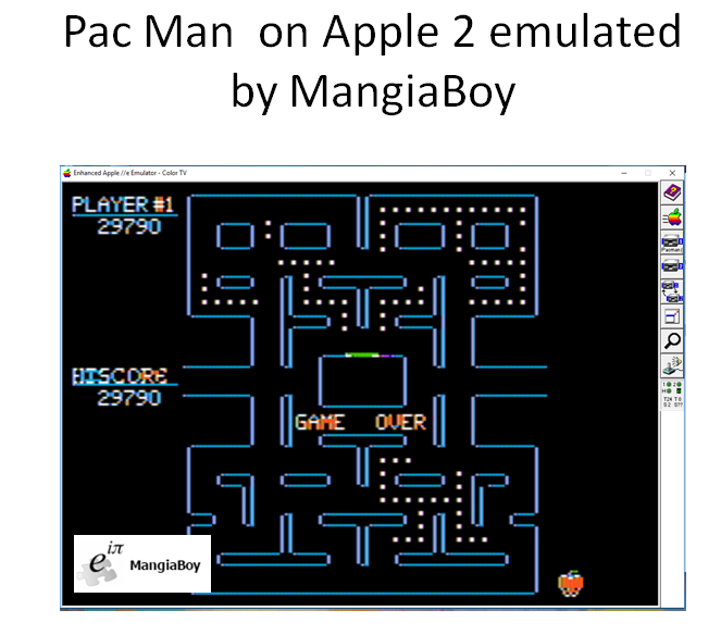 MangiaBoy: Pac-Man (Apple II Emulated) 29,790 points on 2017-01-17 11:57:25