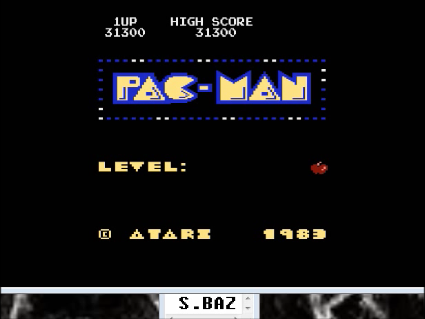 S.BAZ: Pac-Man Arcade [Apple Start] (Atari 400/800/XL/XE Emulated) 86,050 points on 2016-05-01 20:18:24