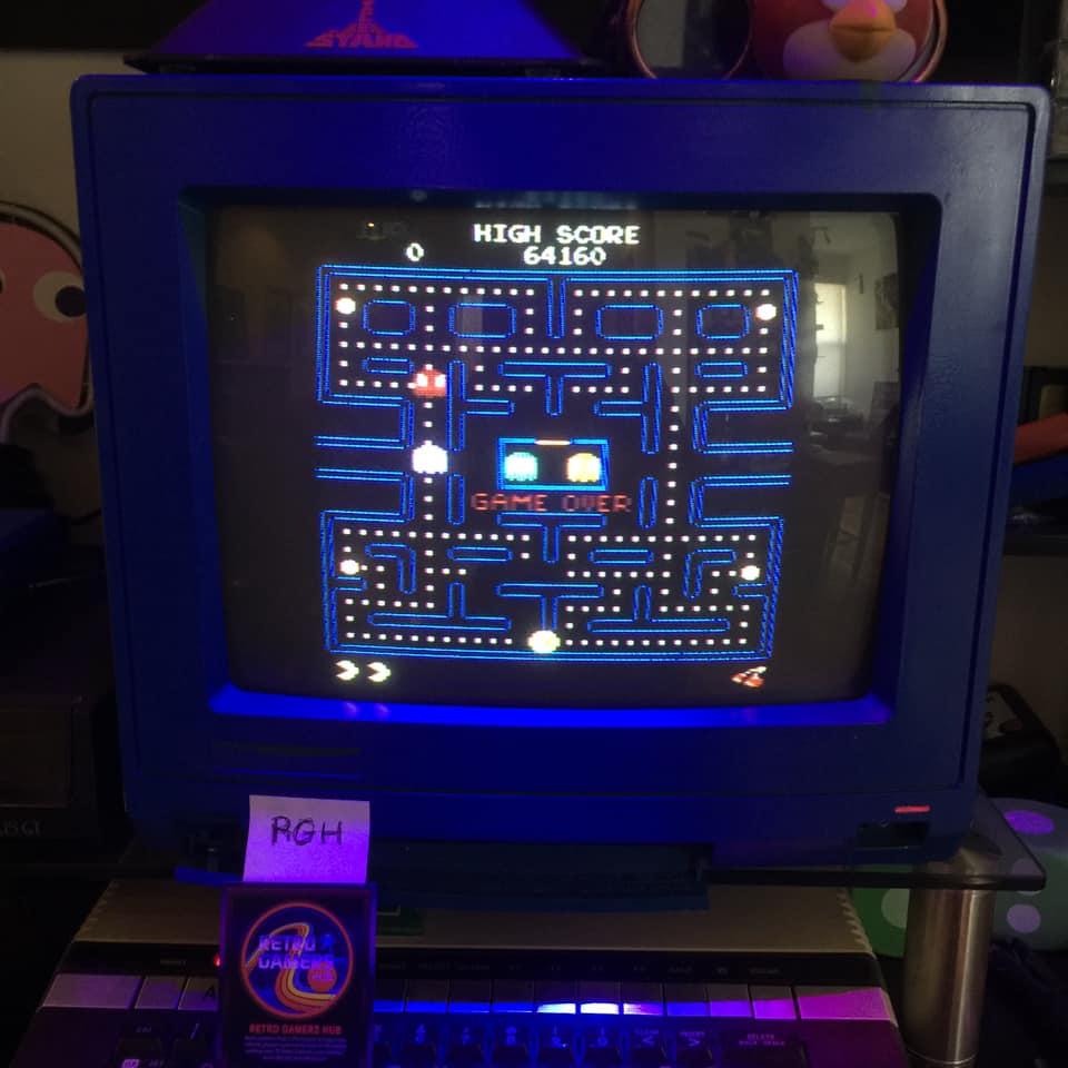 RetroGamersHub: Pac-Man Arcade (Atari 400/800/XL/XE) 64,160 points on 2021-04-10 15:43:06