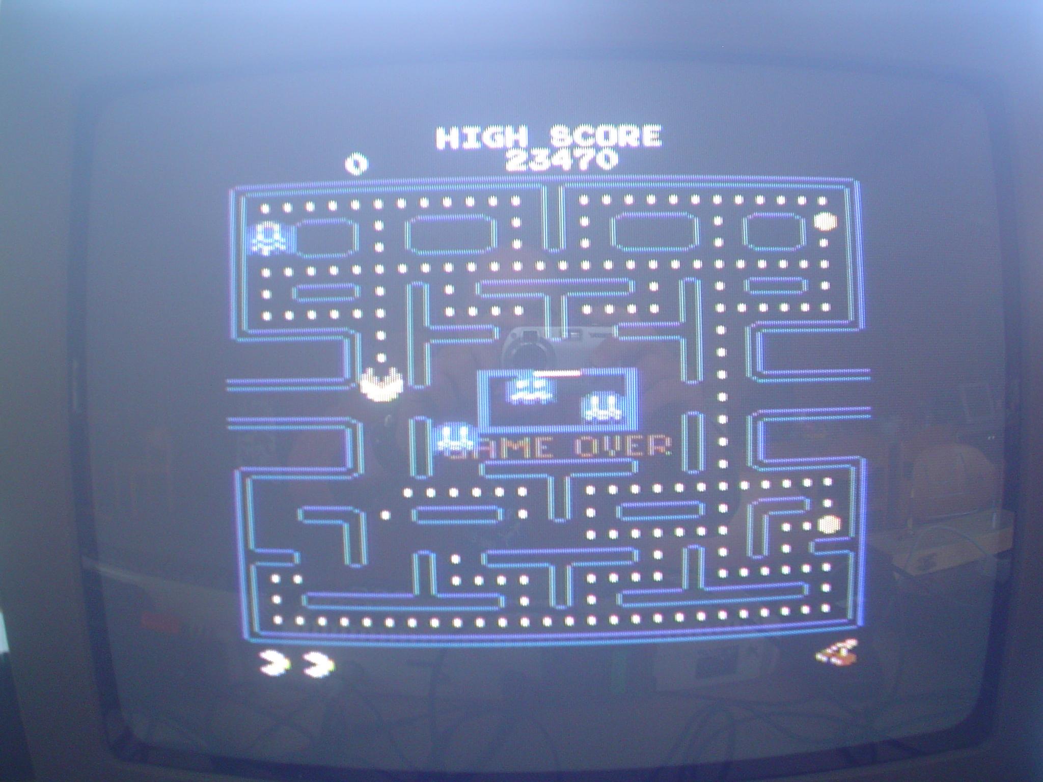 Pac-Man Arcade 23,470 points