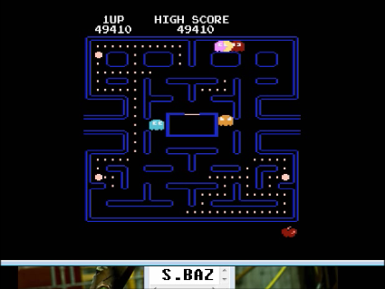 S.BAZ: Pac-Man Arcade (Atari 400/800/XL/XE Emulated) 49,410 points on 2016-05-01 20:26:39