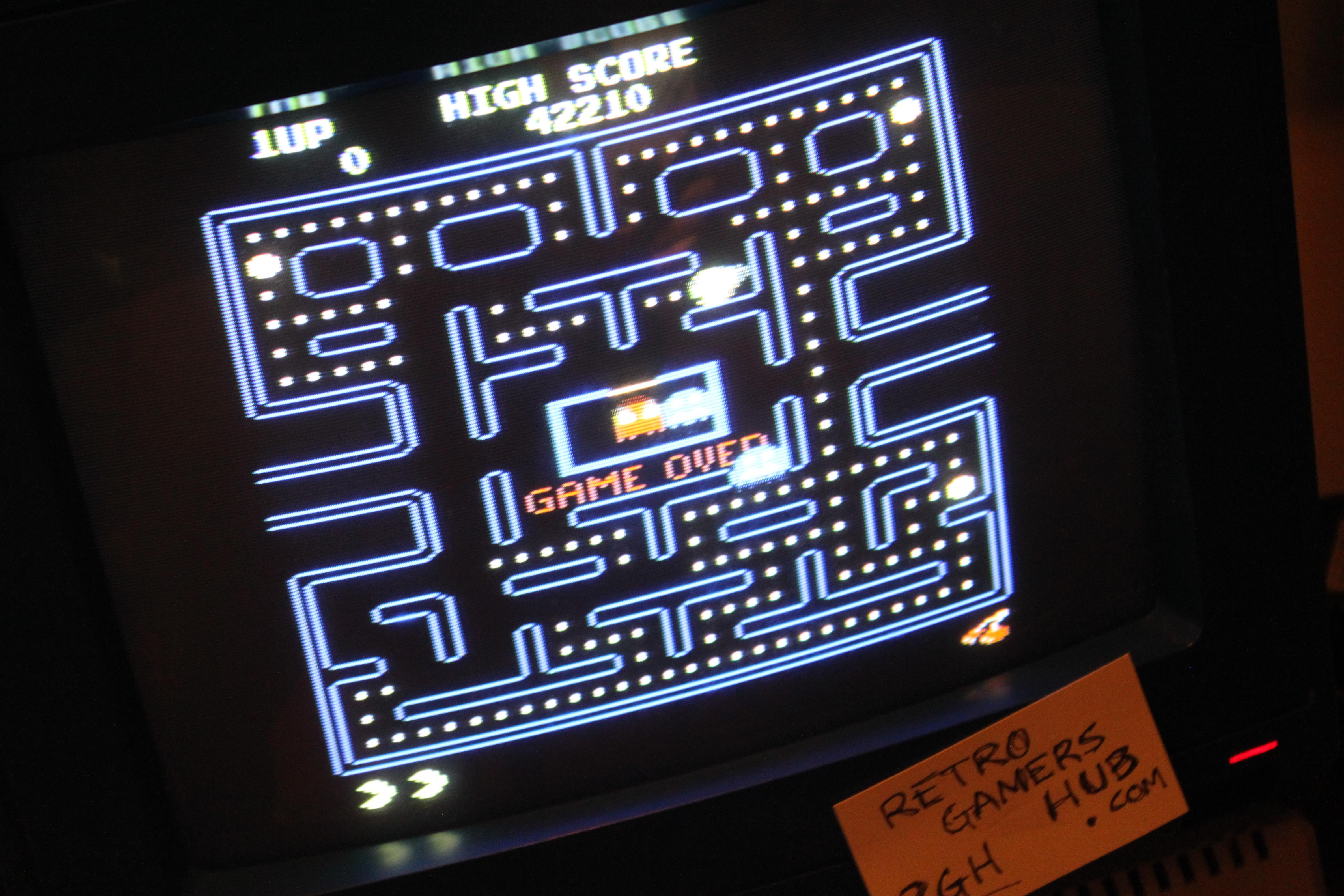 Pac-Man Arcade 42,210 points
