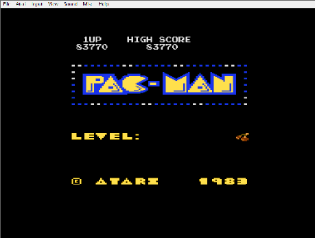 MikeDietrich: Pac-Man Arcade (Atari 400/800/XL/XE Emulated) 83,770 points on 2016-10-23 16:10:34
