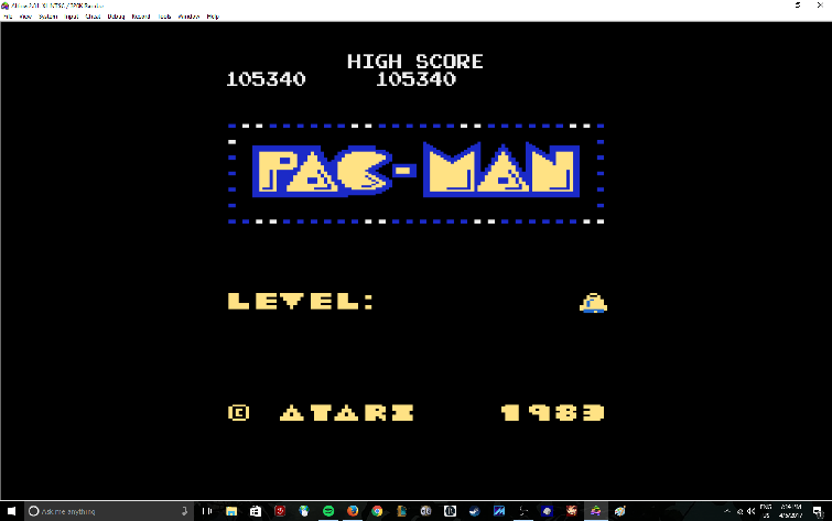 Pac-Man Arcade [Bell Start] 105,340 points
