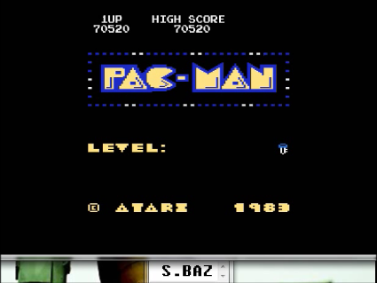S.BAZ: Pac-Man Arcade [Key Start] (Atari 400/800/XL/XE Emulated) 70,520 points on 2016-06-03 12:14:30
