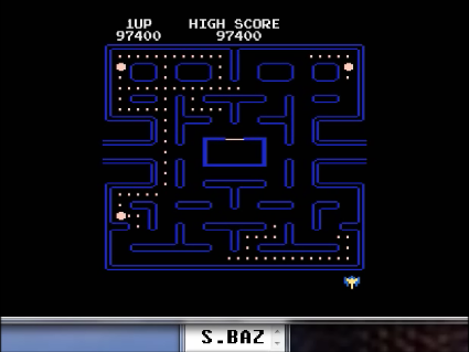 S.BAZ: Pac-Man Arcade [Teddy Bear Start] (Atari 400/800/XL/XE Emulated) 97,400 points on 2016-06-03 12:12:07