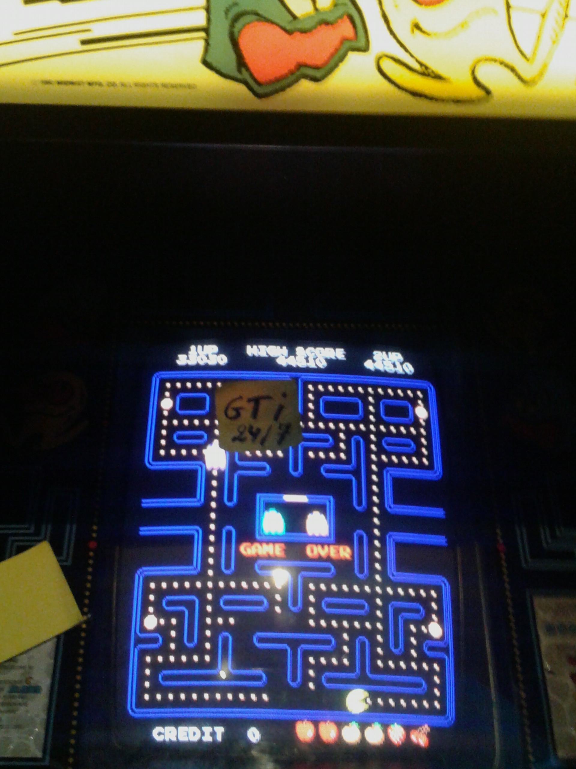 GTibel: Pac-Man (Arcade) 44,510 points on 2016-07-25 15:14:38