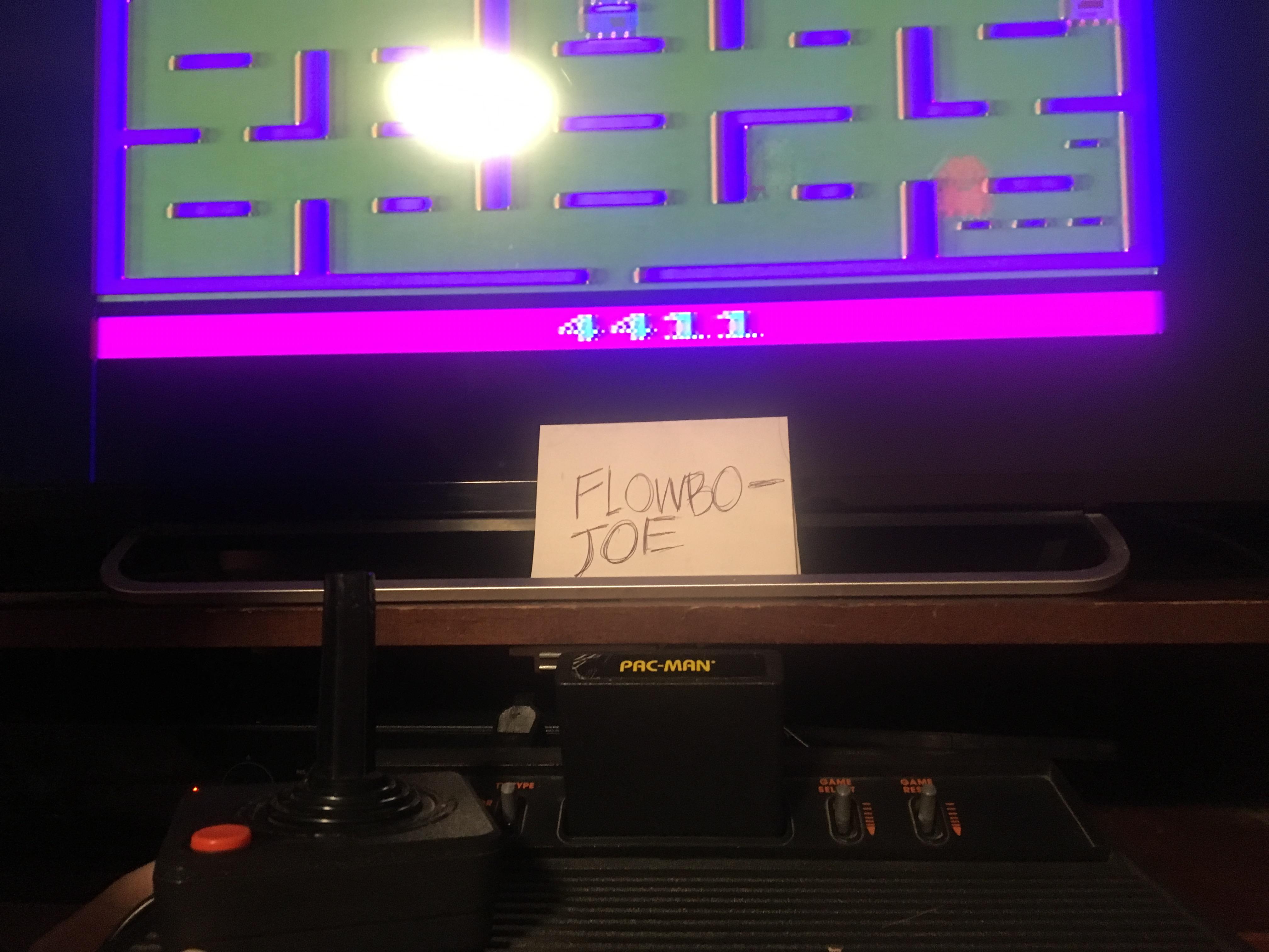 FlowboJoe: Pac-Man (Atari 2600 Novice/B) 4,411 points on 2018-01-10 17:39:31