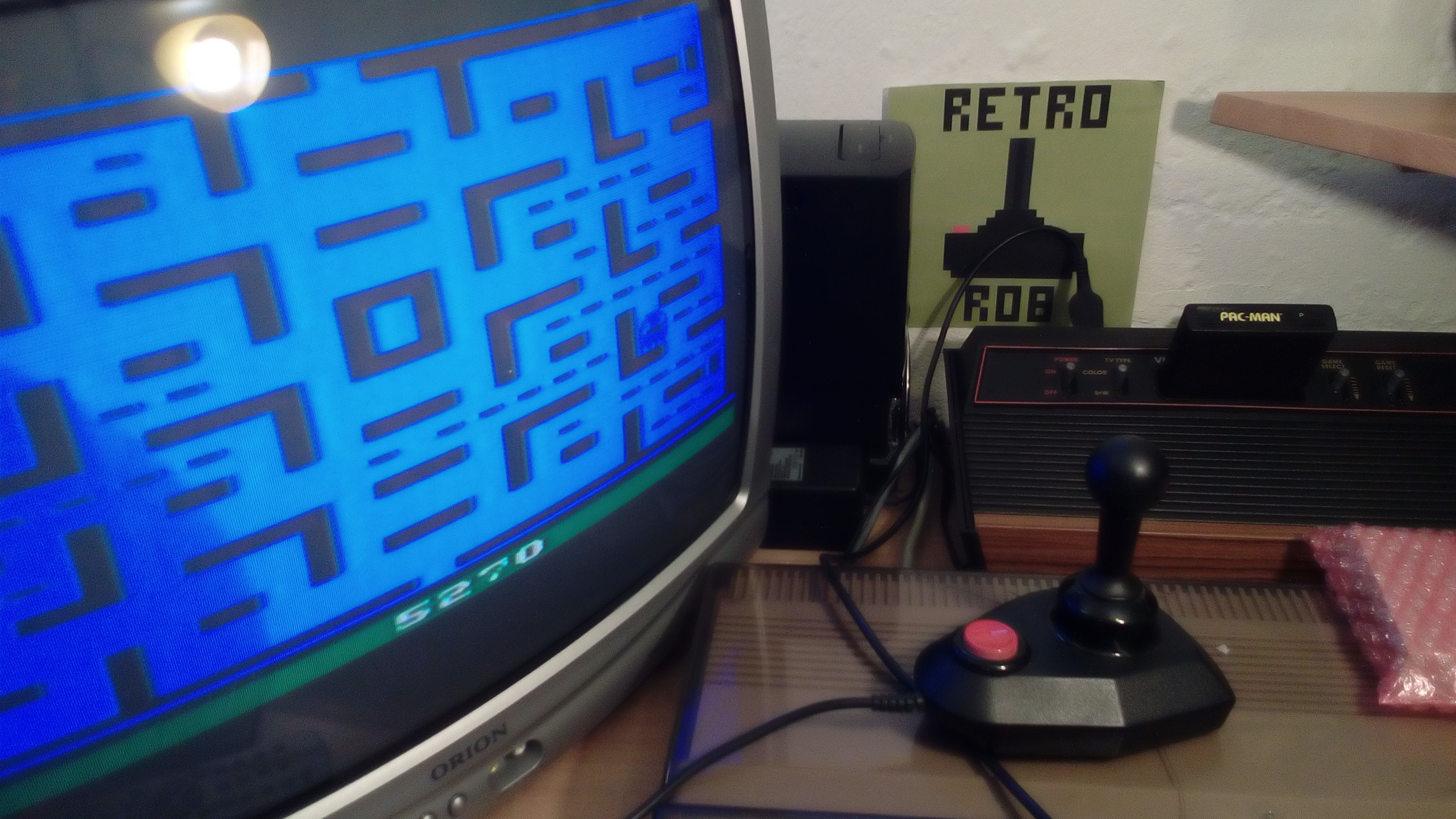 RetroRob: Pac-Man (Atari 2600 Novice/B) 5,270 points on 2020-05-14 12:22:28