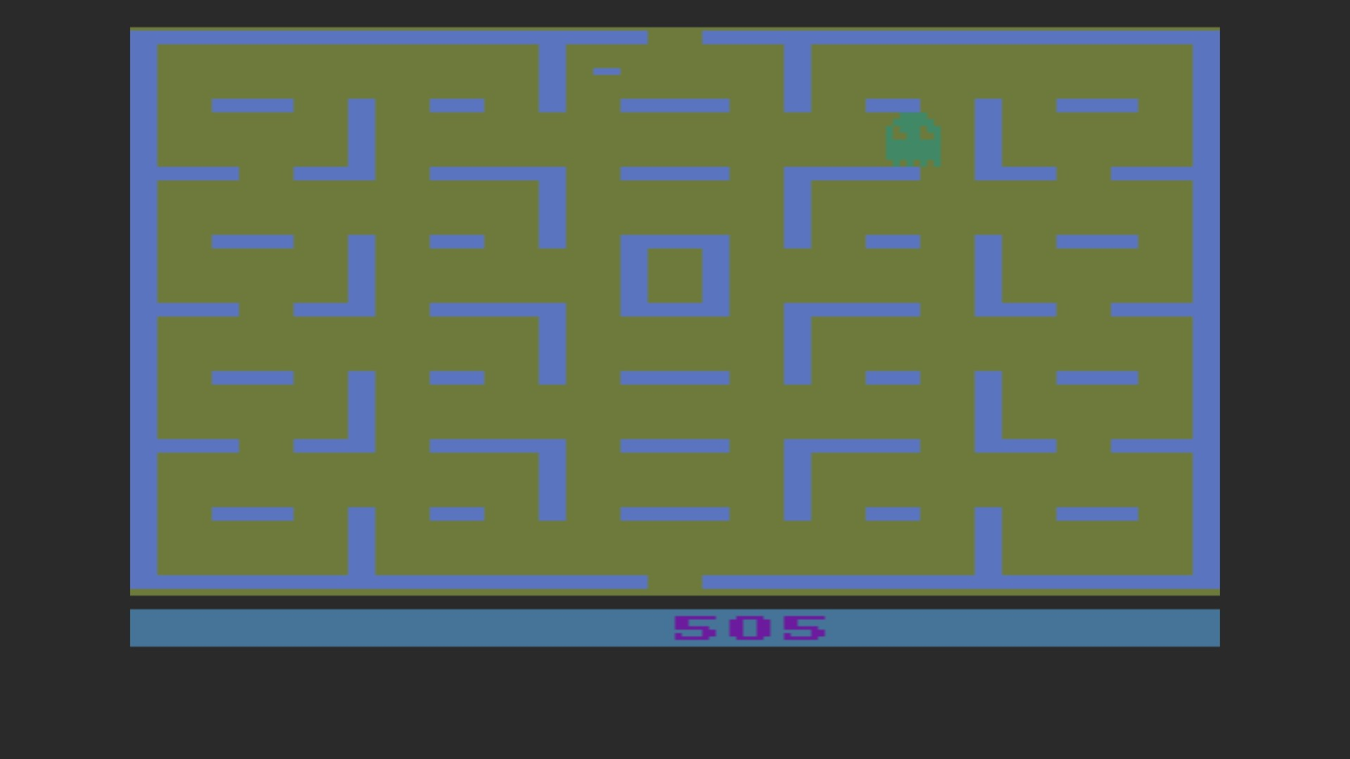 AkinNahtanoj: Pac-Man (Atari 2600 Emulated Expert/A Mode) 505 points on 2020-10-18 07:52:54