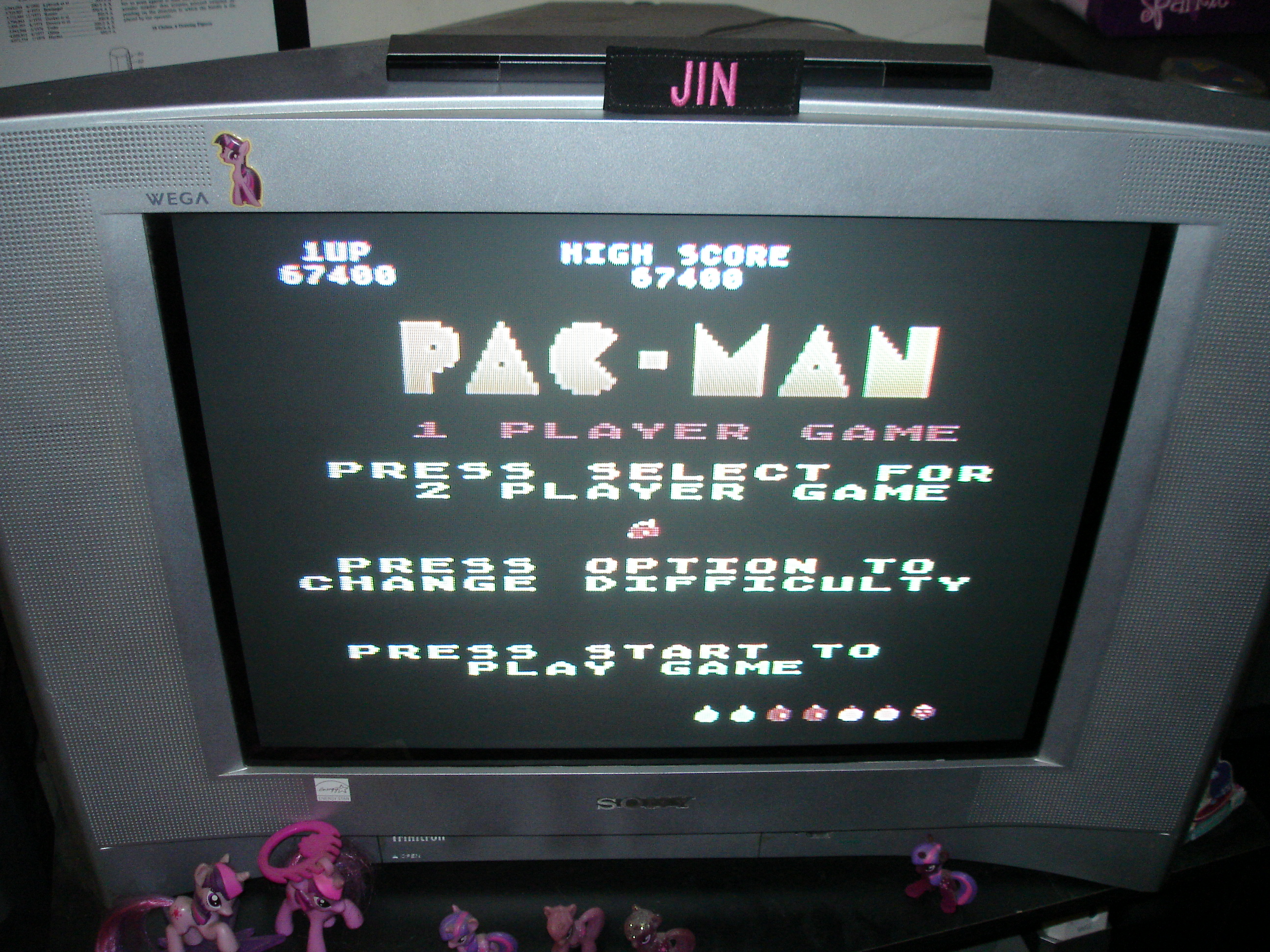 Jin: Pac-Man (Atari 400/800/XL/XE) 67,400 points on 2017-10-17 04:29:26