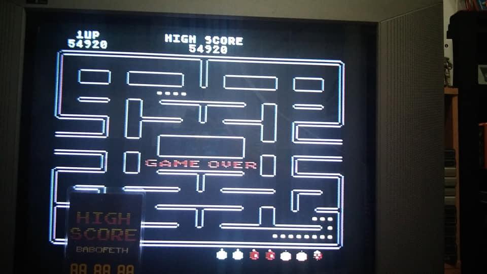 BabofetH: Pac-Man (Atari 400/800/XL/XE) 54,920 points on 2020-07-19 21:08:18