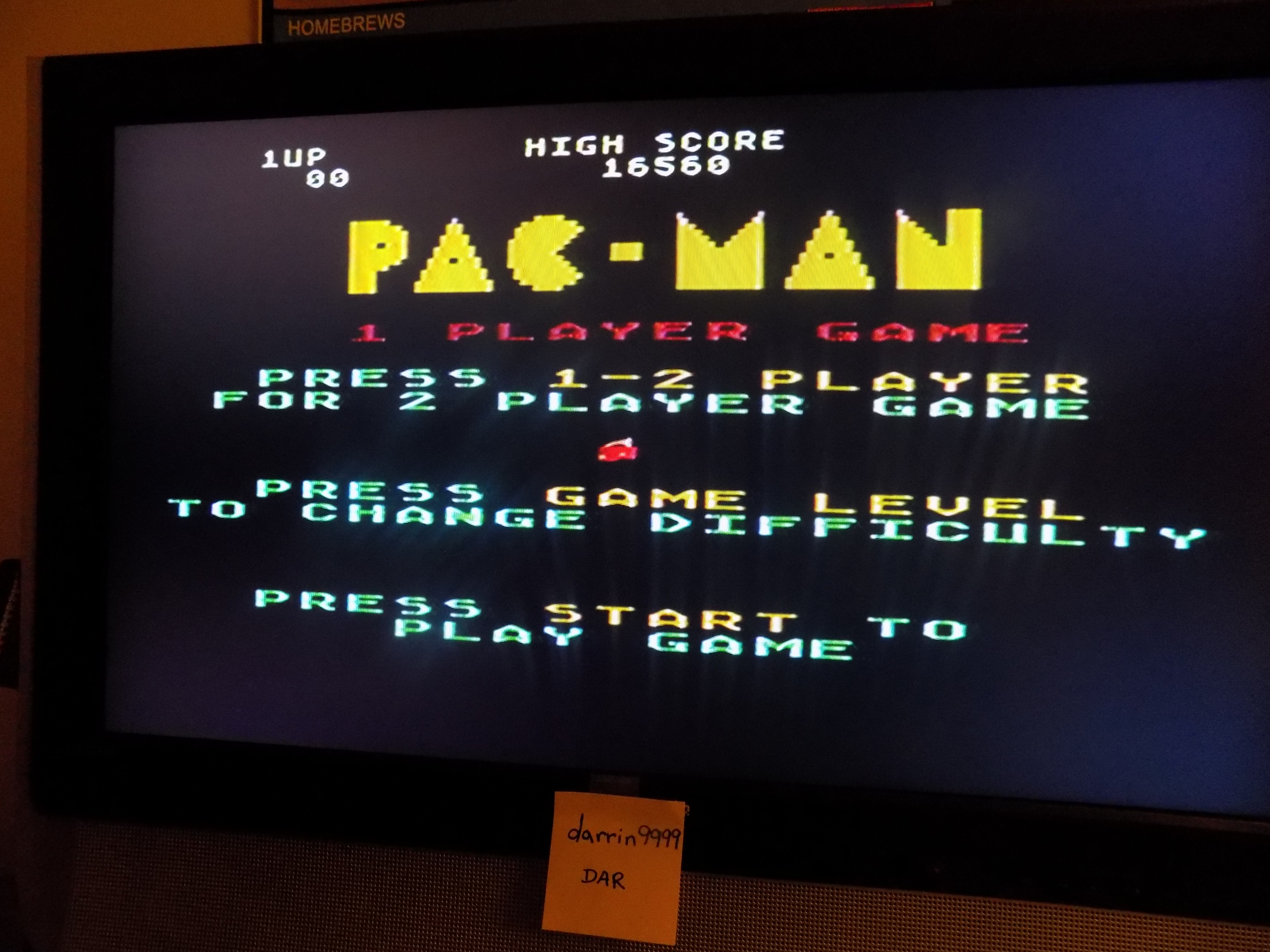 darrin9999: Pac-Man: Cherries Start (Atari 5200) 16,560 points on 2017-02-06 21:57:39