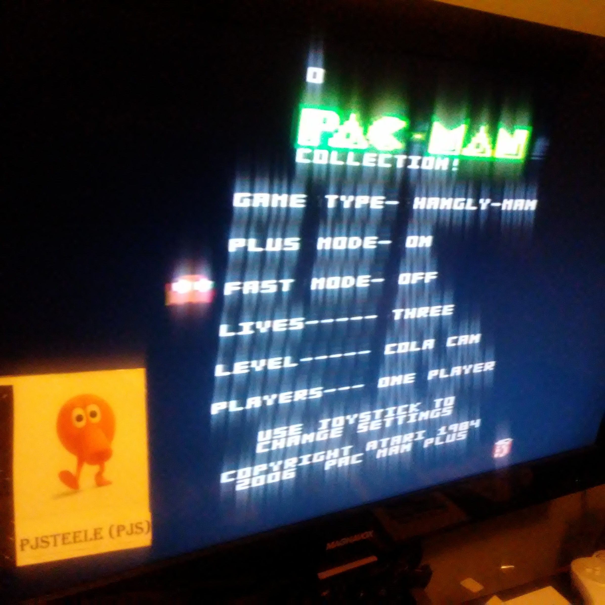 Pac-Man Collection: Hangly Man [Cola/Plus On/Fast Off] (Atari 7800) 8,220 points