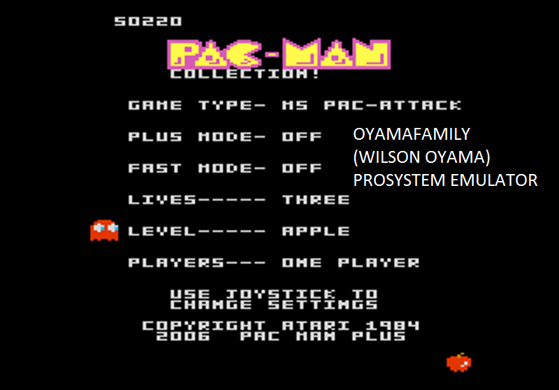 oyamafamily: Pac-Man Collection: Ms. Pac-Attack [Apple/Plus Off/Fast Off] (Atari 7800 Emulated) 50,220 points on 2016-03-04 20:10:22