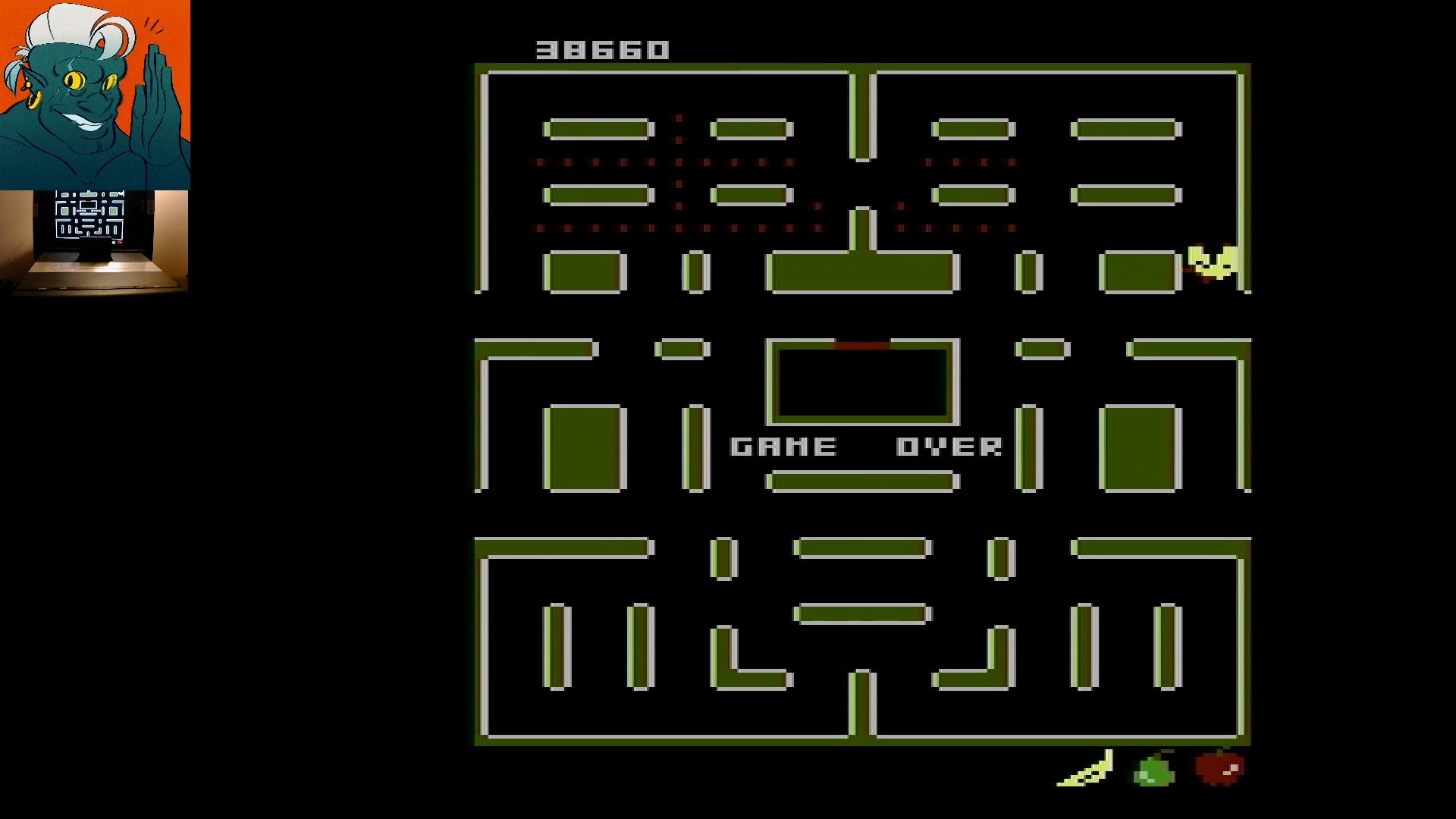 AwesomeOgre: Pac-Man Collection: Ms. Pac-Attack [Apple/Plus Off/Fast Off] (Atari 7800) 38,660 points on 2019-12-04 05:02:55