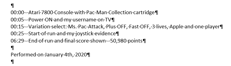Pac-Man Collection: Ms. Pac-Attack [Apple/Plus Off/Fast Off] 50,980 points
