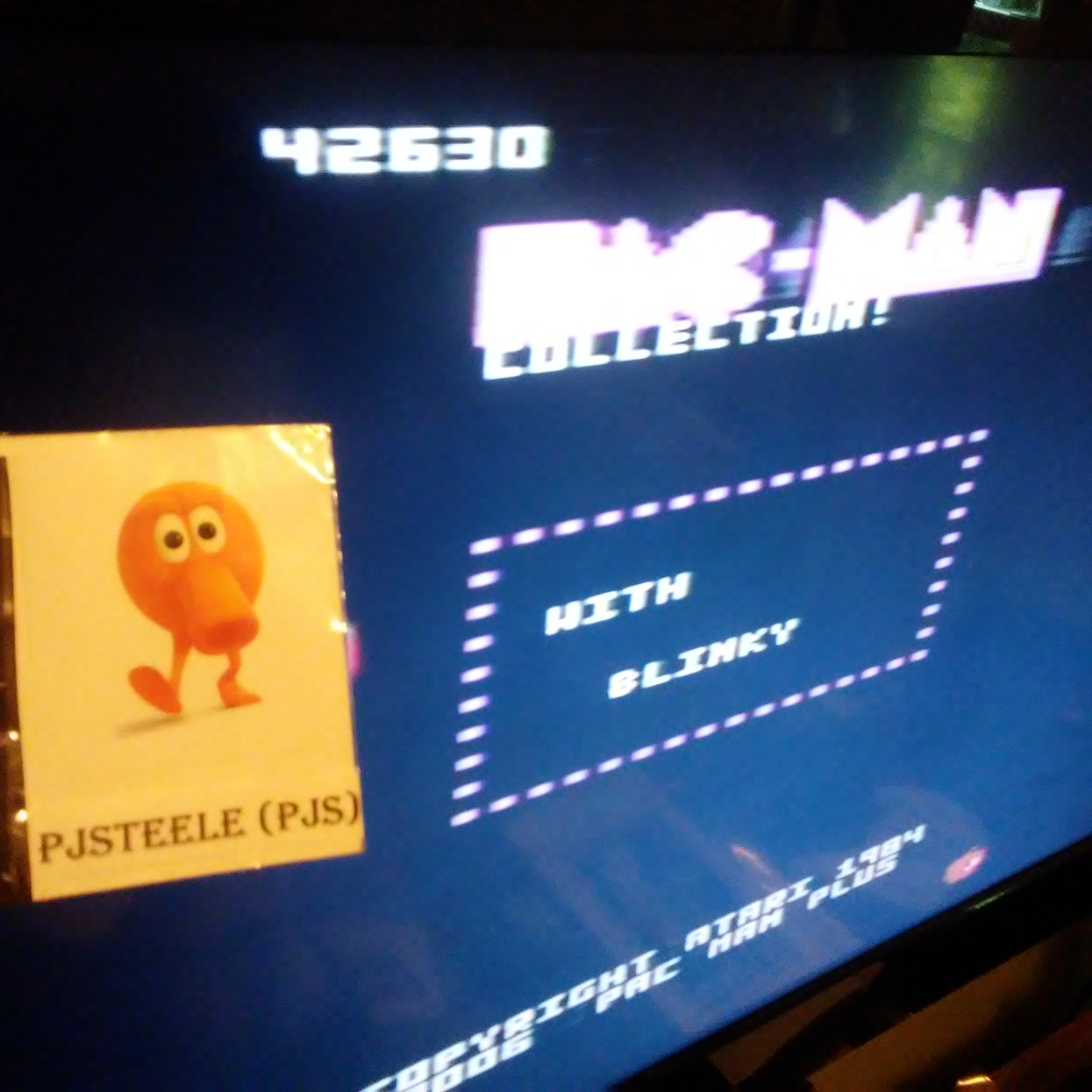 Pac-Man Collection: Ms. Pac-Attack [Apple/Plus Off/Fast On] 42,630 points