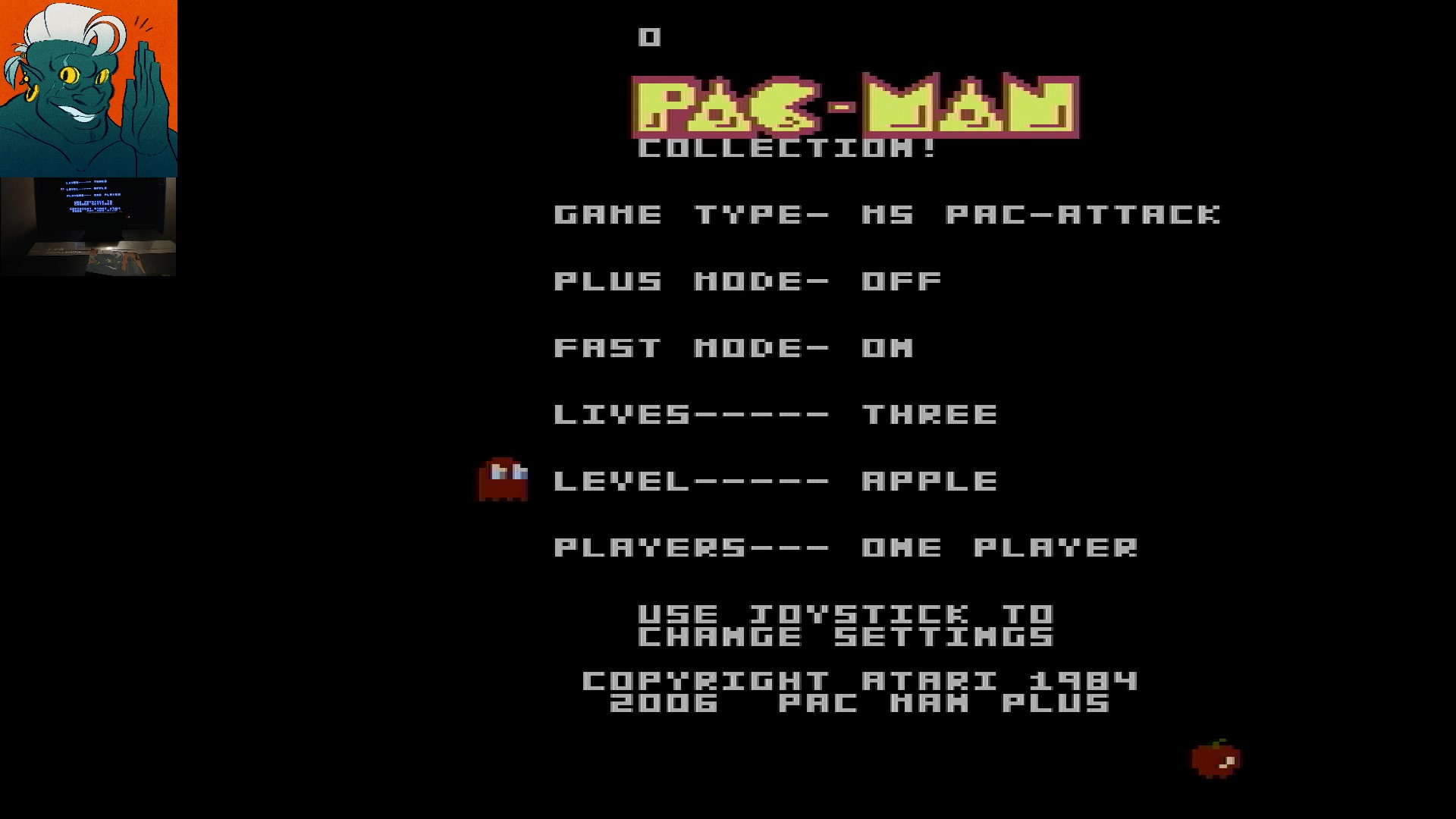 AwesomeOgre: Pac-Man Collection: Ms. Pac-Attack [Apple/Plus Off/Fast On] (Atari 7800) 103,490 points on 2019-12-07 09:49:57