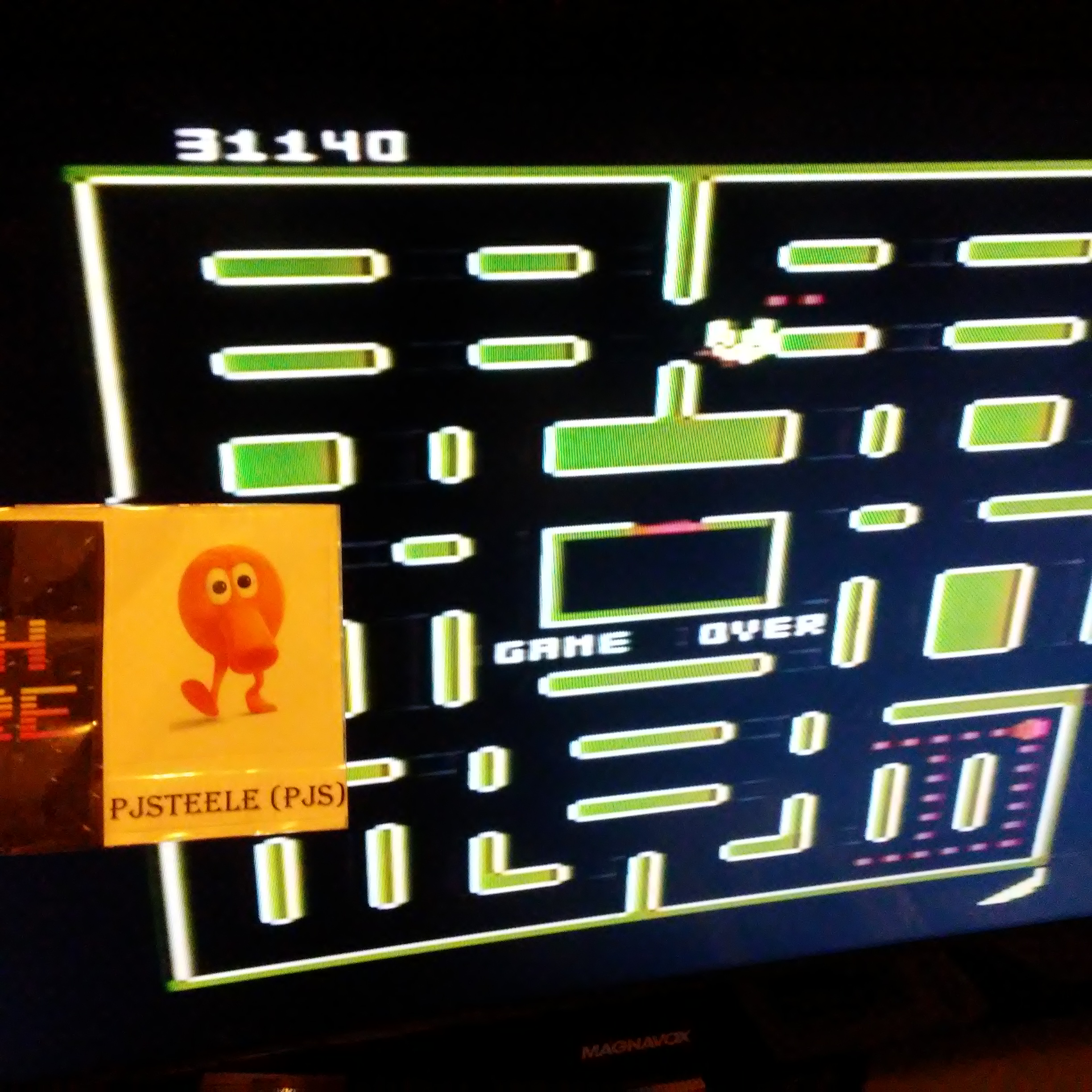 Pac-Man Collection: Ms. Pac-Attack [Banana/Plus Off/Fast On] 31,140 points