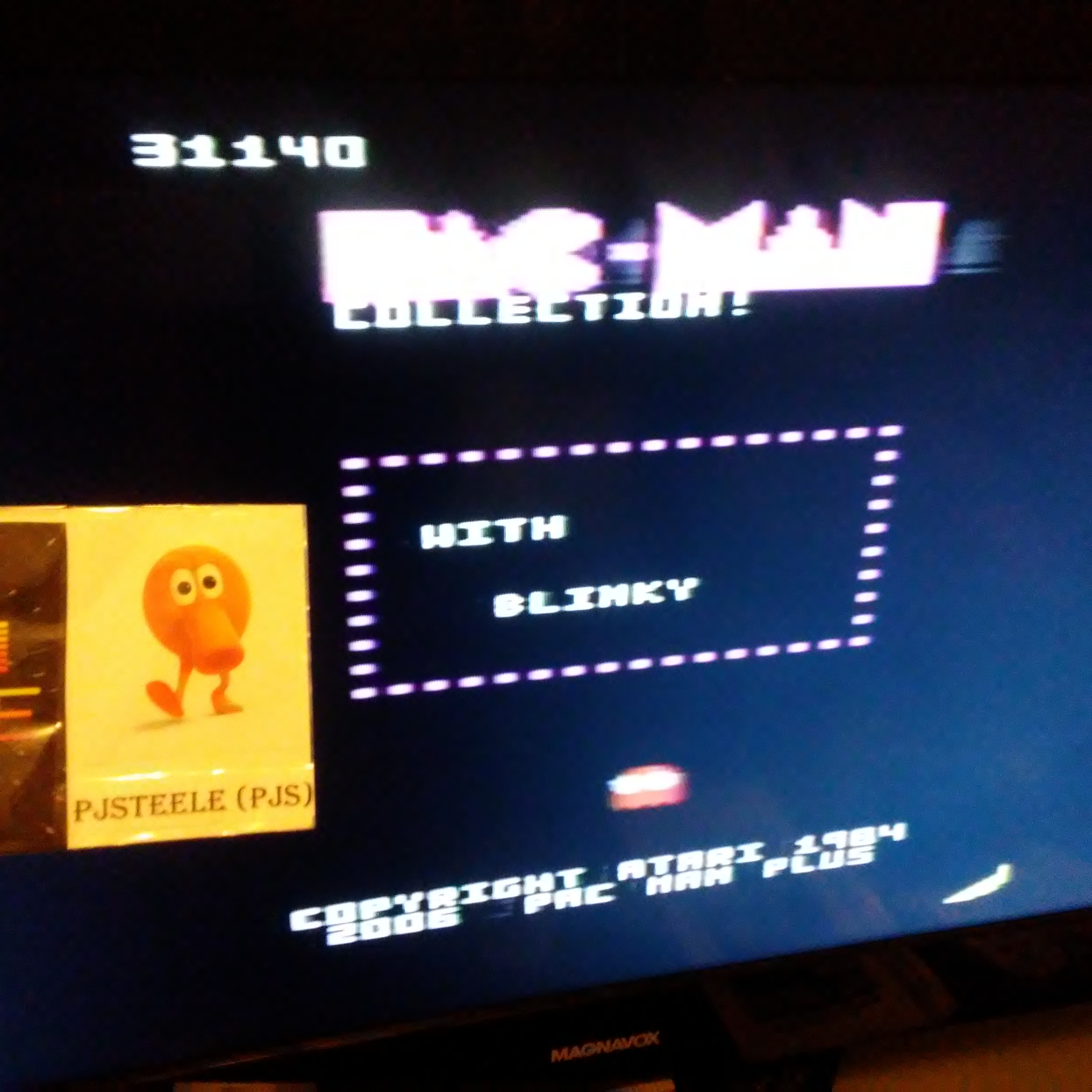 Pjsteele: Pac-Man Collection: Ms. Pac-Attack [Banana/Plus Off/Fast On] (Atari 7800) 31,140 points on 2018-09-18 20:16:42