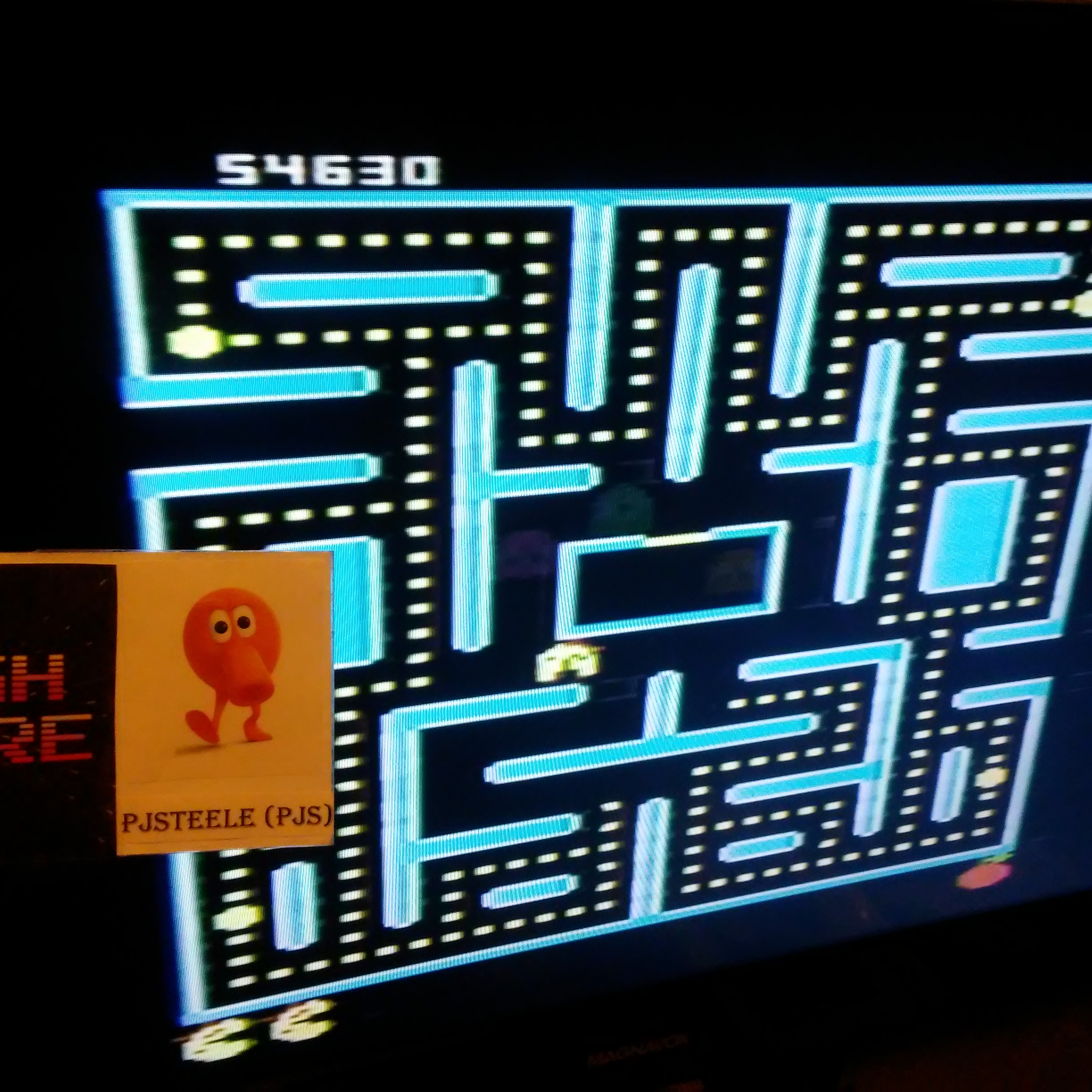 Pjsteele: Pac-Man Collection: Ms. Pac-Attack [Orange/Plus Off/Fast On] (Atari 7800) 54,630 points on 2018-09-18 20:45:07
