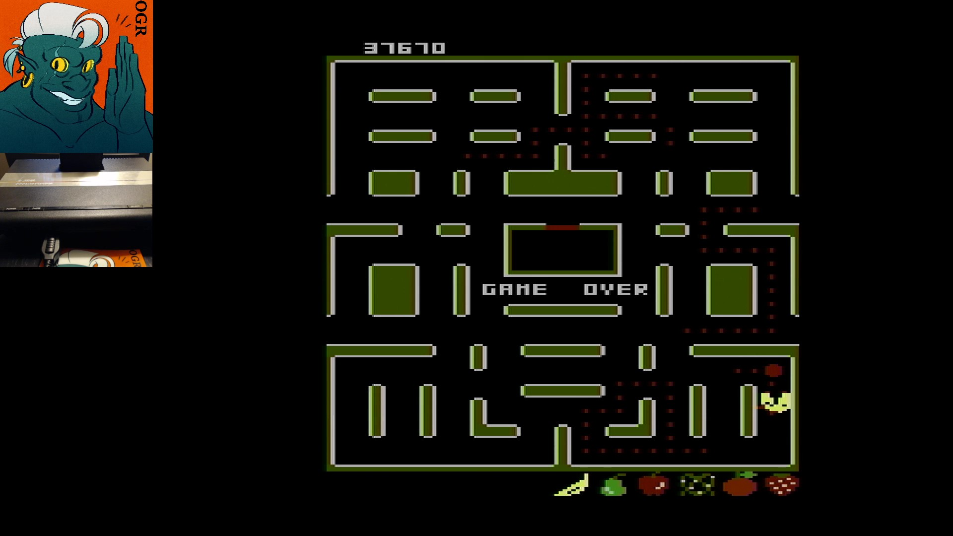 AwesomeOgre: Pac-Man Collection: Ms. Pac-Attack [Strawberry/Plus Off/Fast Off] (Atari 7800) 37,670 points on 2020-03-03 11:41:17