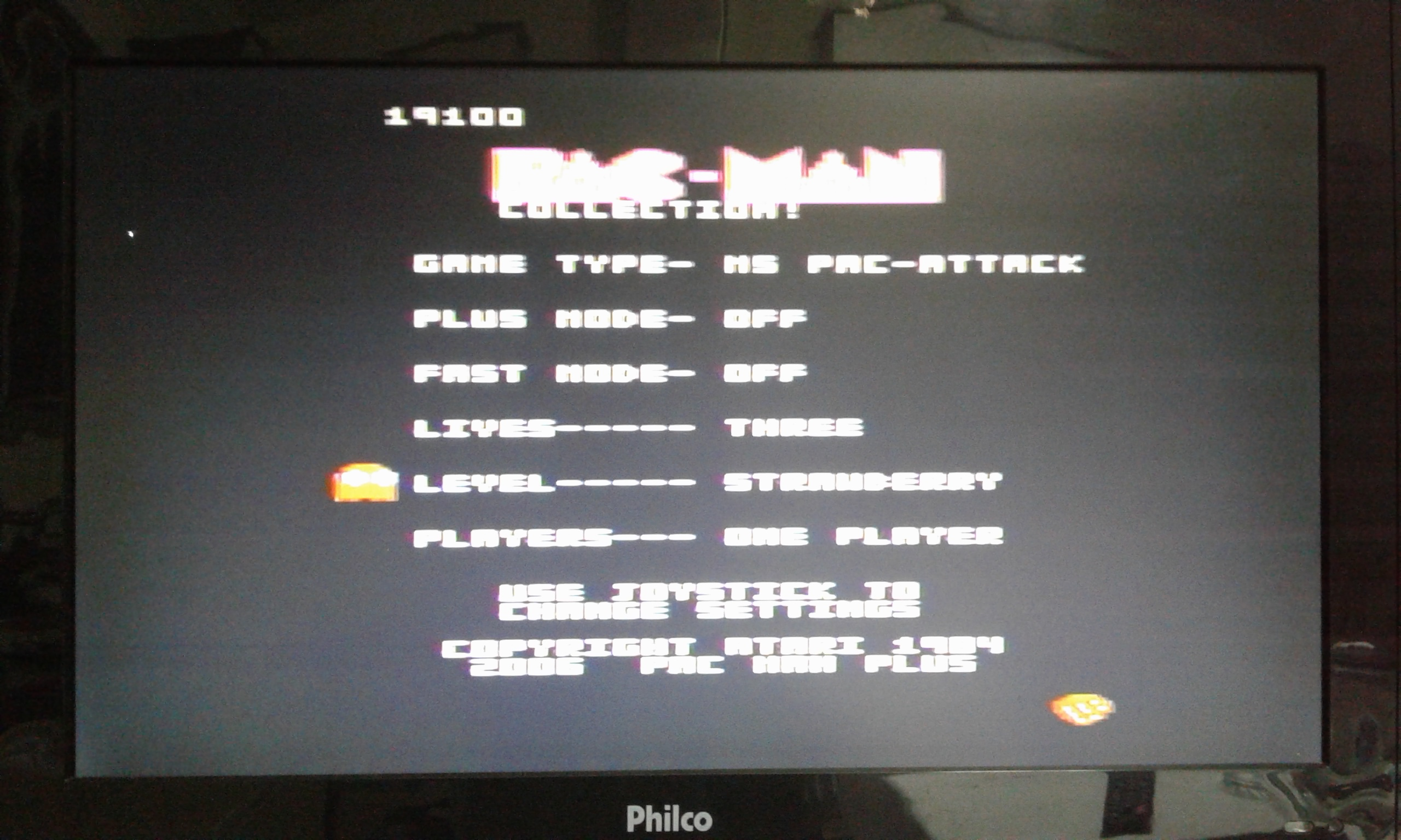 oyamafamily: Pac-Man Collection: Ms. Pac-Attack [Strawberry/Plus Off/Fast Off] (Atari 7800) 19,100 points on 2020-05-28 20:30:10