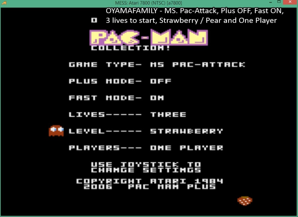 oyamafamily: Pac-Man Collection: Ms. Pac-Attack [Strawberry/Plus Off/Fast On] (Atari 7800 Emulated) 161,330 points on 2016-03-27 05:53:53