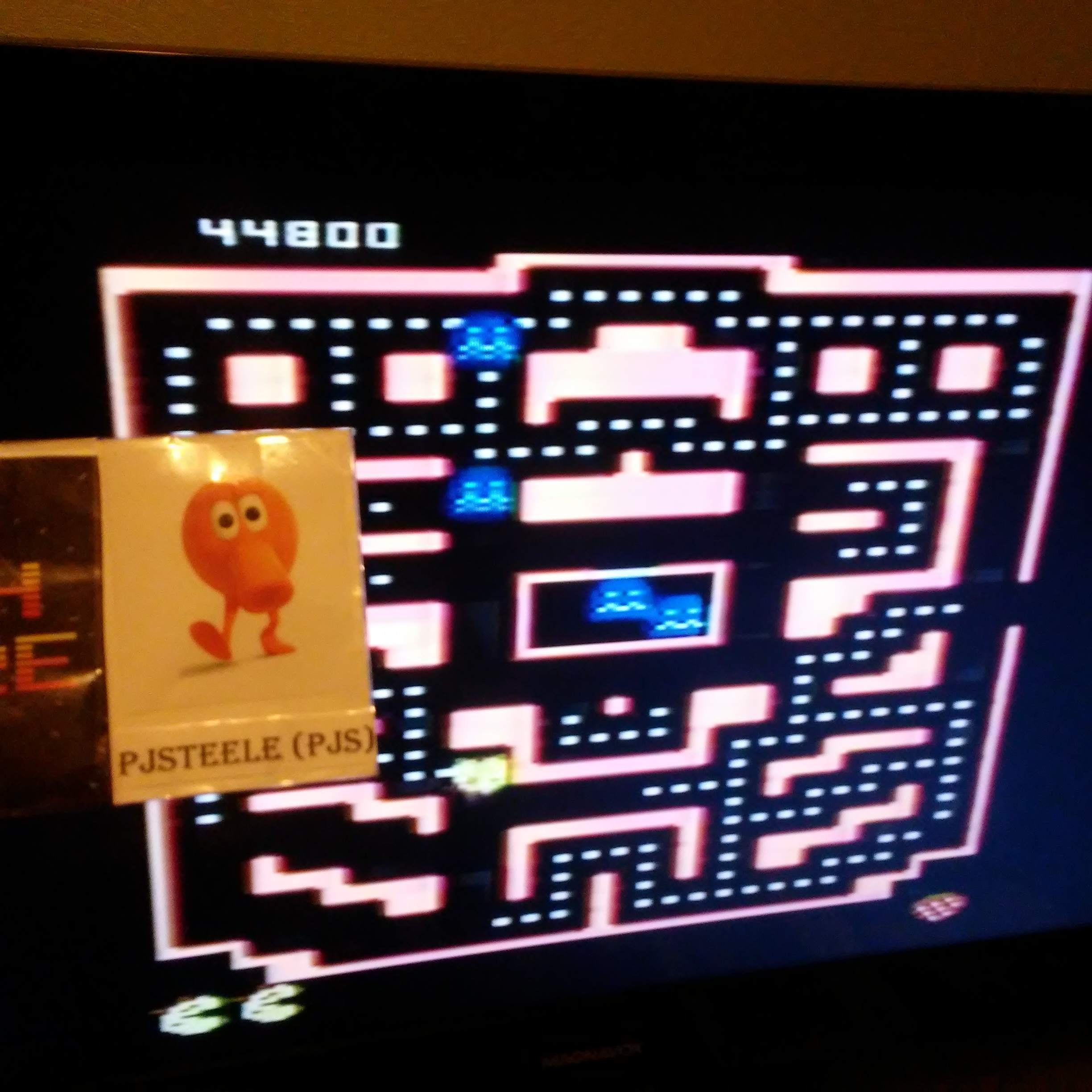 Pjsteele: Pac-Man Collection: Ms. Pac-Attack [Strawberry/Plus Off/Fast On] (Atari 7800) 44,800 points on 2018-09-18 21:05:53