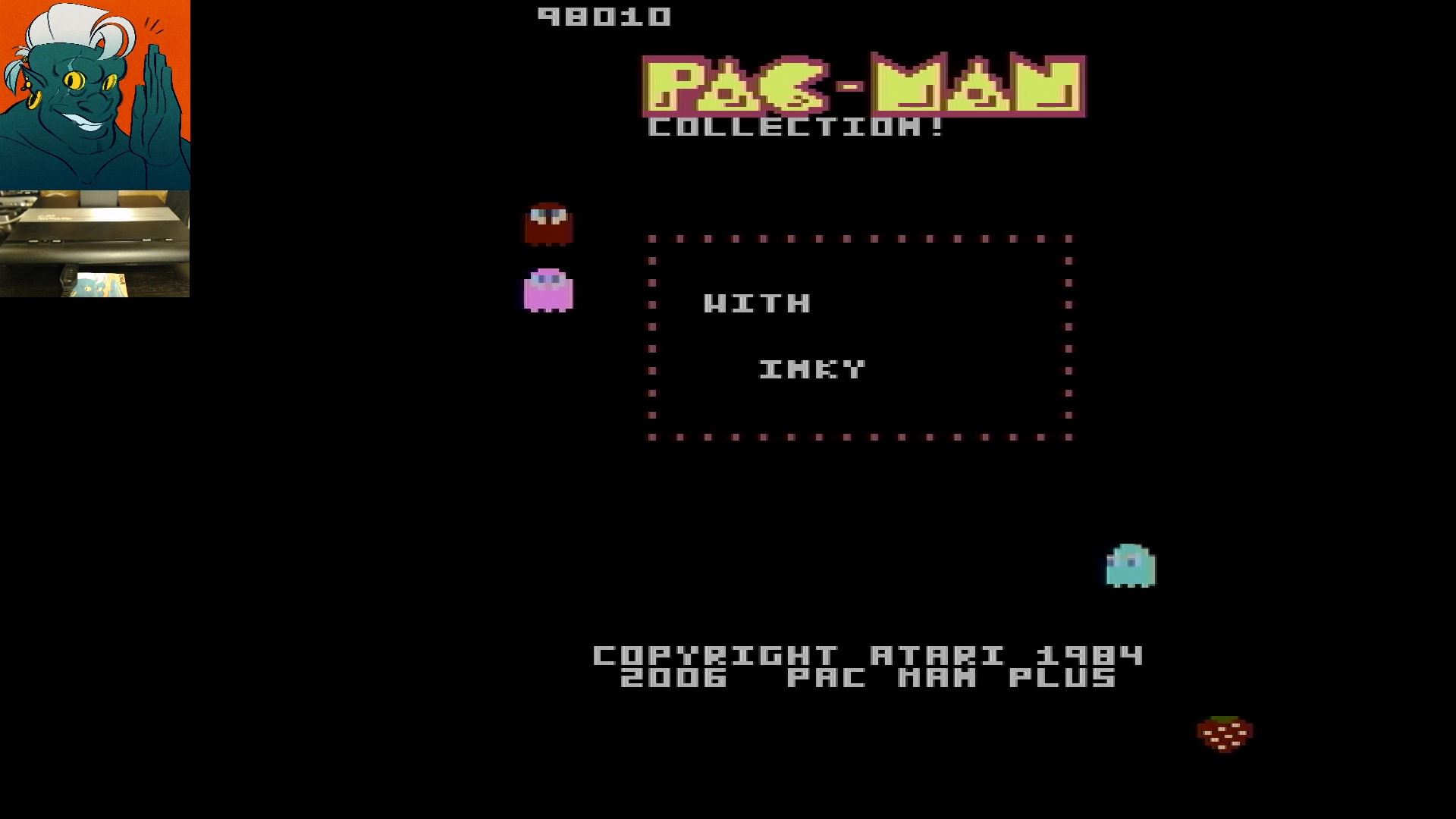 AwesomeOgre: Pac-Man Collection: Ms. Pac-Attack [Strawberry/Plus Off/Fast On] (Atari 7800) 98,010 points on 2019-11-29 16:27:44