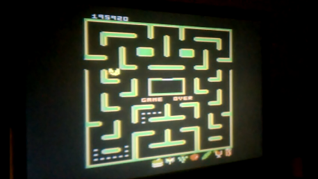 Pac-Man Collection: Ms. Pac-Man: 5 Lives [Cola/Plus On/Fast On] 195,920 points