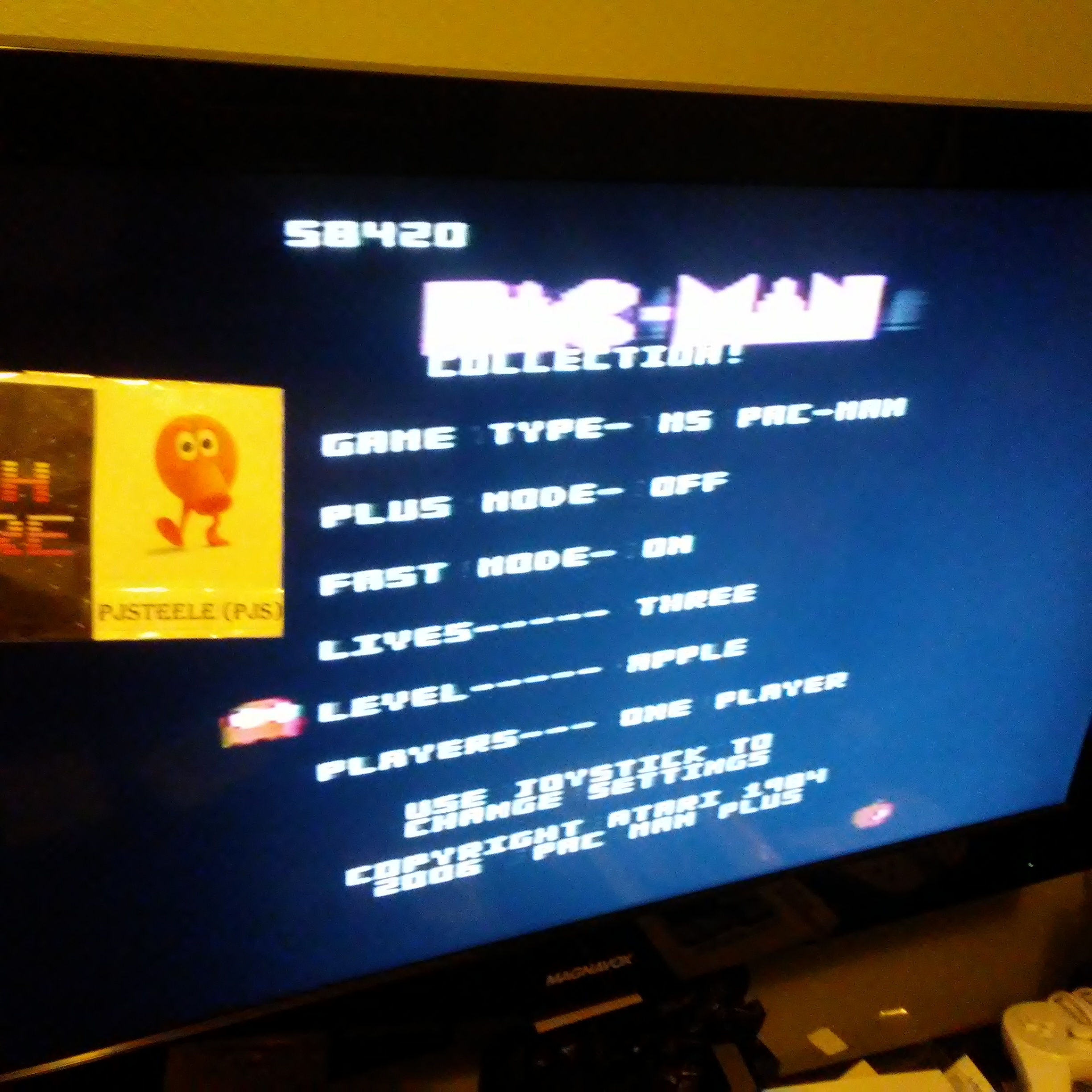 Pac-Man Collection: Ms. Pac-Man [Apple/Plus Off/Fast On] 58,420 points
