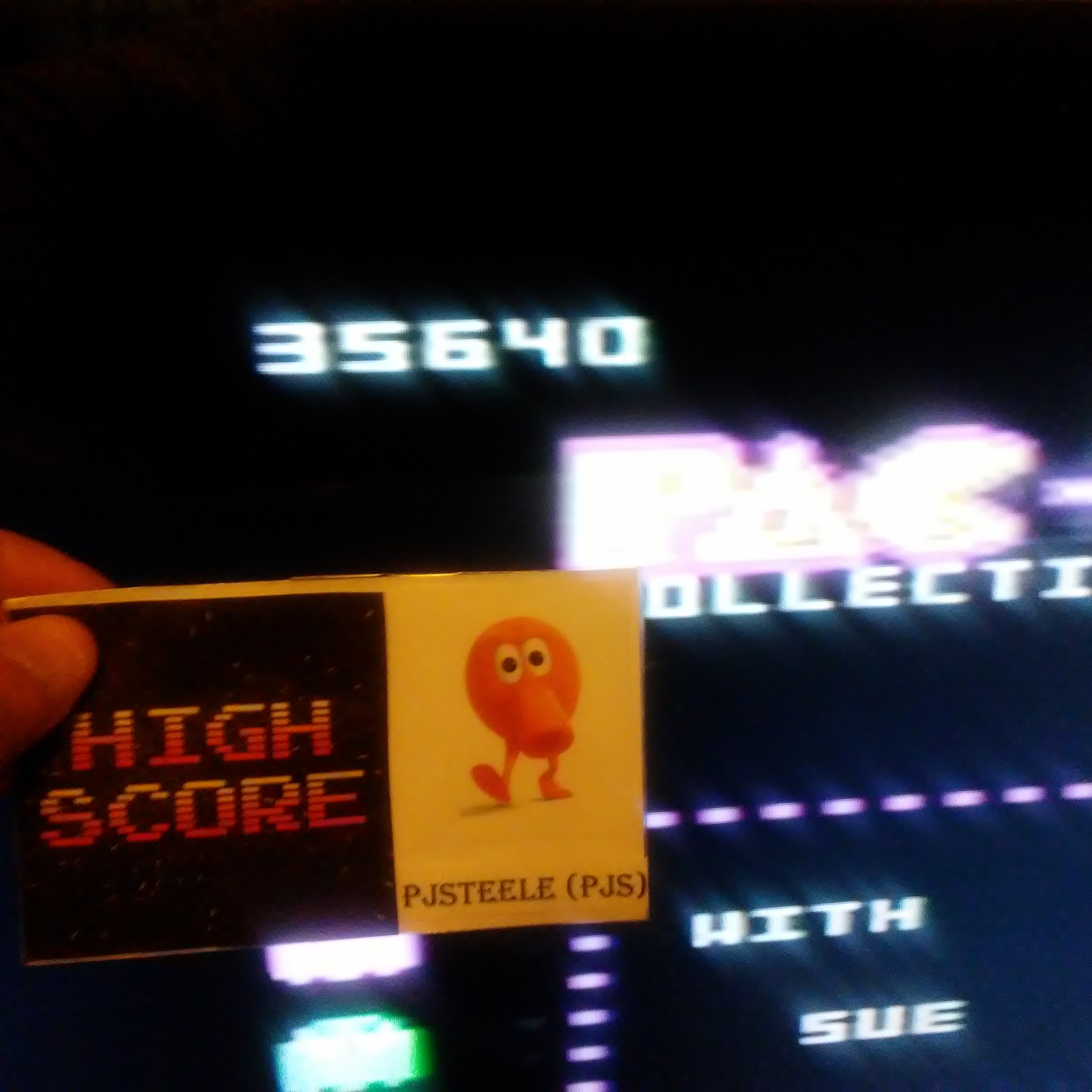 Pac-Man Collection: Ms. Pac-Man [Cherries/Plus Off/Fast Off] 35,640 points