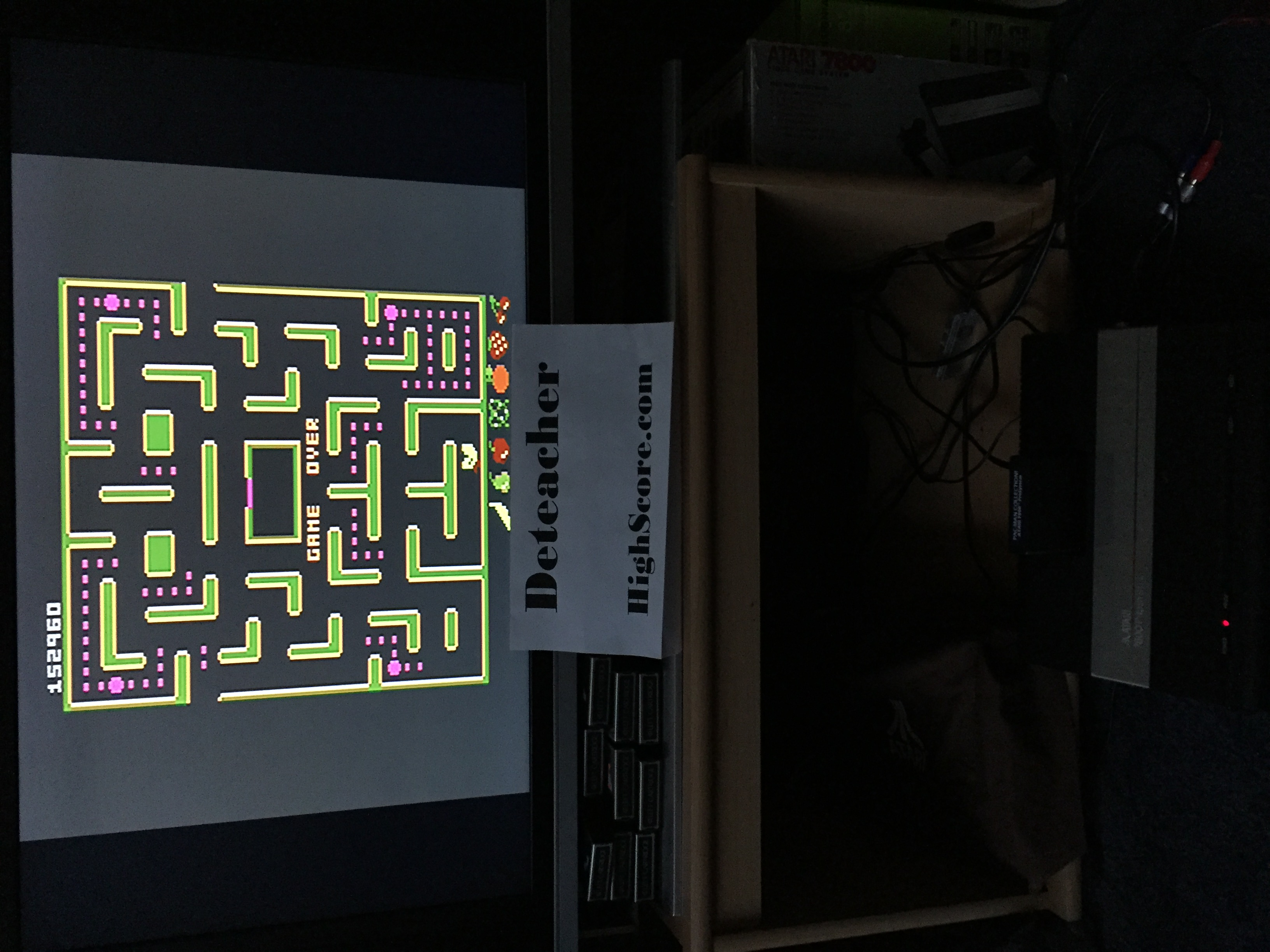 Deteacher: Pac-Man Collection: Ms. Pac-Man [Cherries/Plus Off/Fast On] (Atari 7800) 152,960 points on 2016-02-14 16:40:15