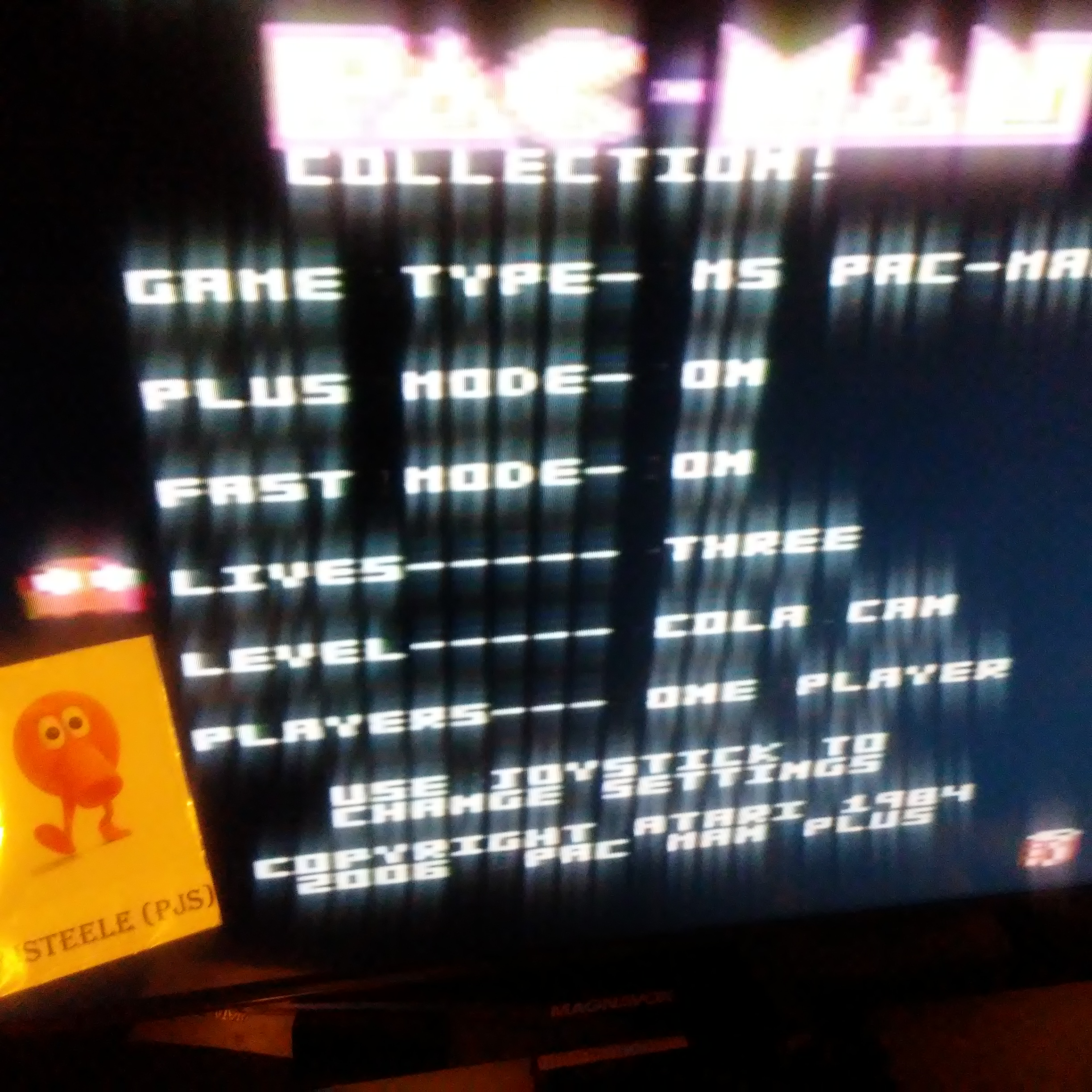Pac-Man Collection: Ms. Pac-Man [Cola/Plus On/Fast On] 36,390 points