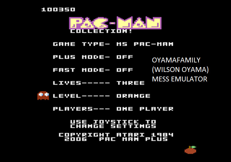 oyamafamily: Pac-Man Collection: Ms. Pac-Man [Orange/Plus Off/Fast Off] (Atari 7800 Emulated) 100,350 points on 2016-02-27 17:54:22