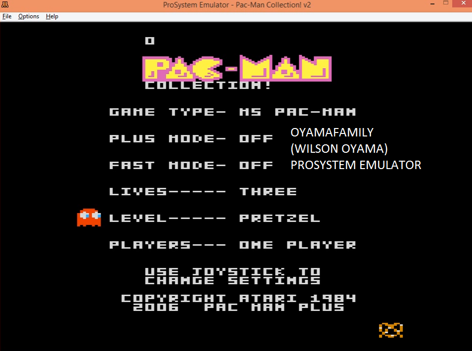 oyamafamily: Pac-Man Collection: Ms. Pac-Man [Pretzel/Plus Off/Fast Off] (Atari 7800 Emulated) 105,490 points on 2016-03-05 19:37:40