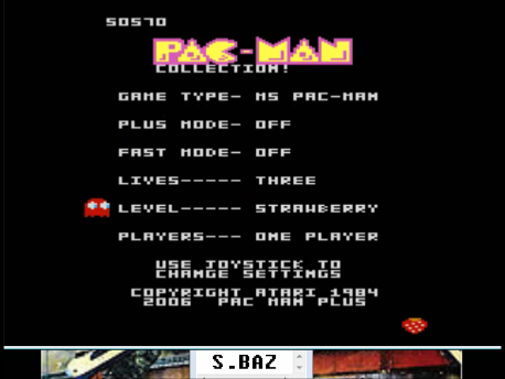 S.BAZ: Pac-Man Collection: Ms. Pac-Man [Strawberry/Plus Off/Fast Off] (Atari 7800 Emulated) 50,570 points on 2016-02-25 04:03:24