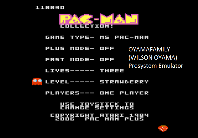 oyamafamily: Pac-Man Collection: Ms. Pac-Man [Strawberry/Plus Off/Fast Off] (Atari 7800 Emulated) 118,830 points on 2016-02-27 17:42:49