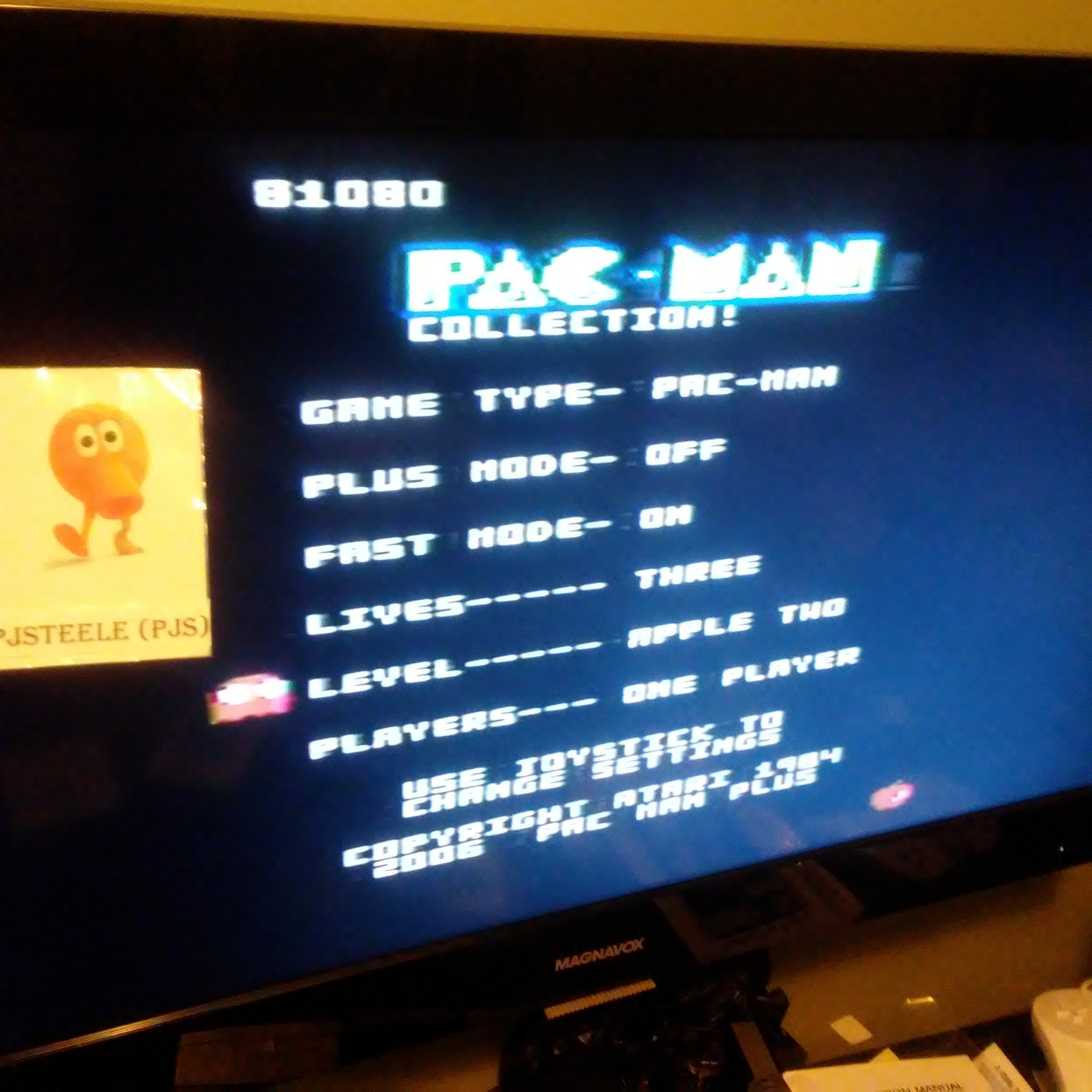 Pac-Man Collection: Pac-Man [Apple Two/Plus Off/Fast On] 81,080 points