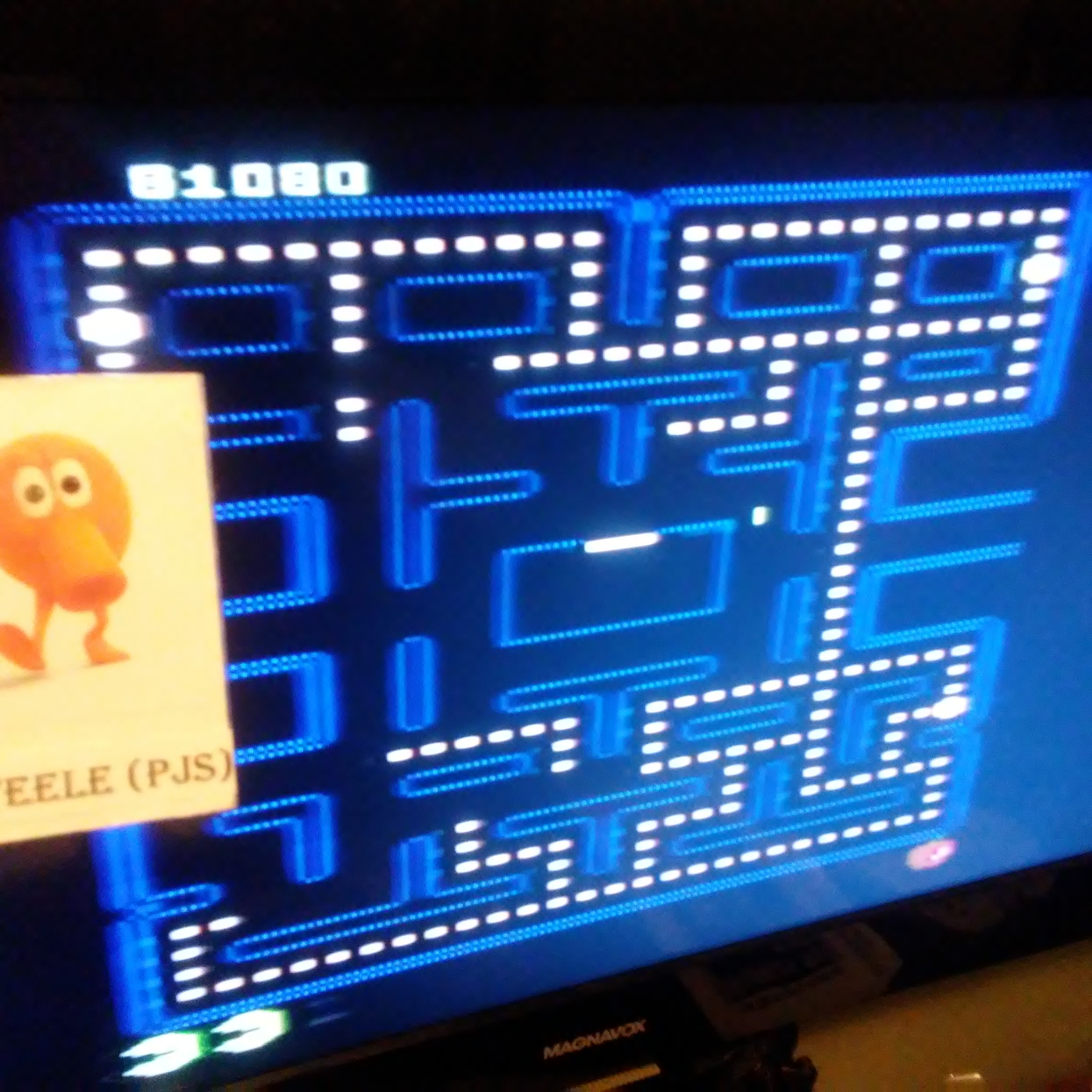 Pjsteele: Pac-Man Collection: Pac-Man [Apple Two/Plus Off/Fast On] (Atari 7800) 81,080 points on 2018-09-28 22:02:59