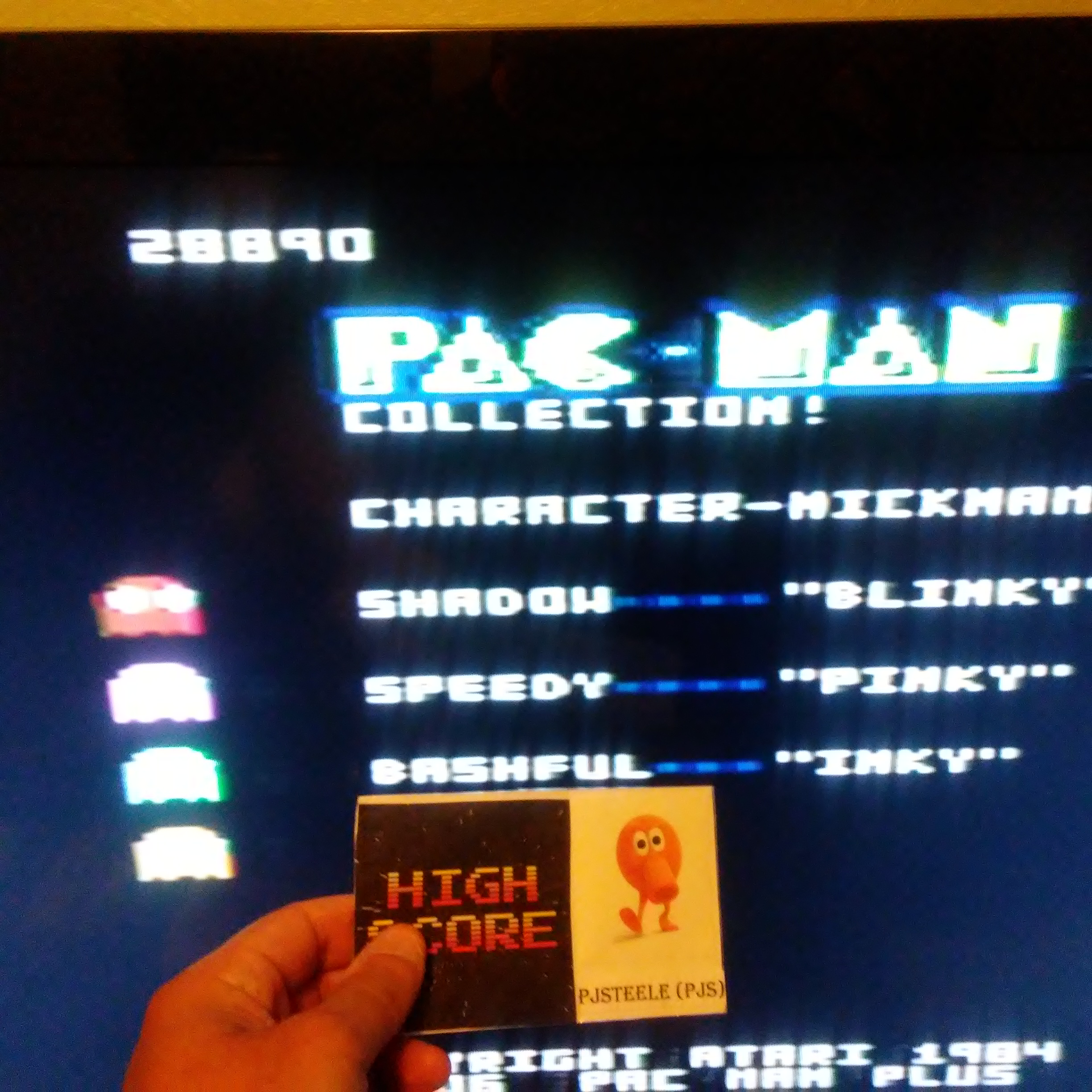 Pjsteele: Pac-Man Collection: Pac-Man [Cherries/Plus Off/Fast Off] (Atari 7800) 28,890 points on 2018-06-24 20:11:42