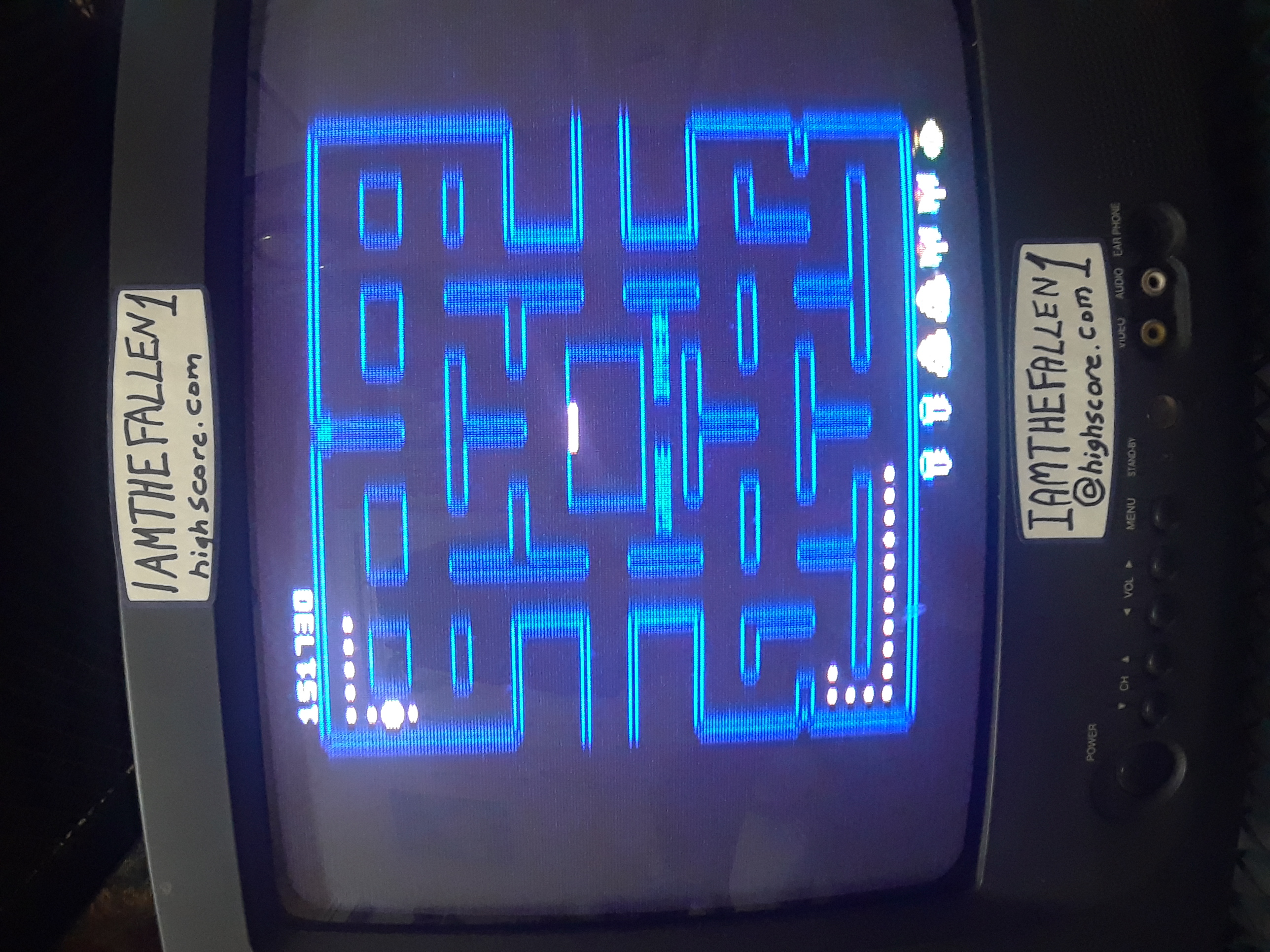 iamthefallen1: Pac-Man Collection: Pac-Man [Cherries/Plus Off/Fast On/5 Lives] (Atari 7800) 151,730 points on 2019-01-31 18:08:58