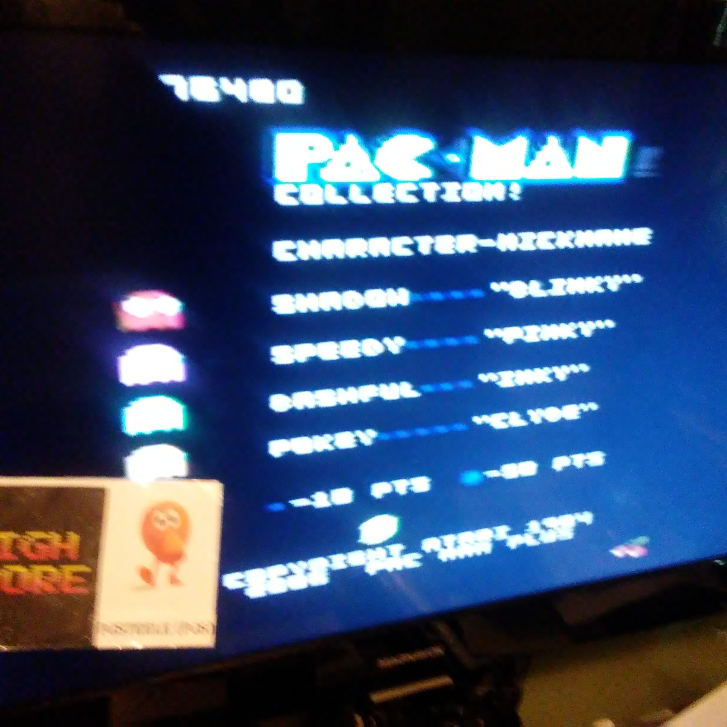Pjsteele: Pac-Man Collection: Pac-Man [Cherries/Plus Off/Fast On] (Atari 7800) 76,480 points on 2018-06-29 17:24:44