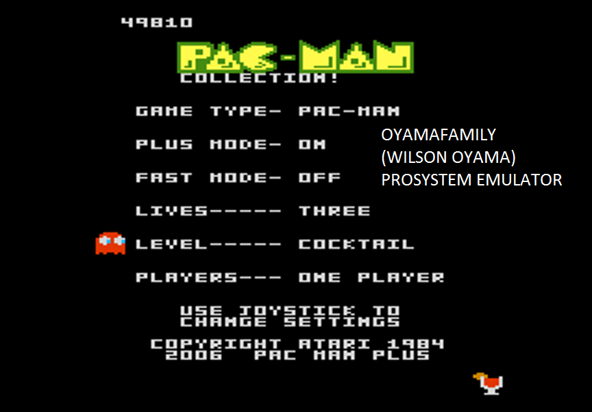 oyamafamily: Pac-Man Collection: Pac-Man [Cocktail/Plus On/Fast Off] (Atari 7800 Emulated) 49,810 points on 2016-03-06 14:26:21